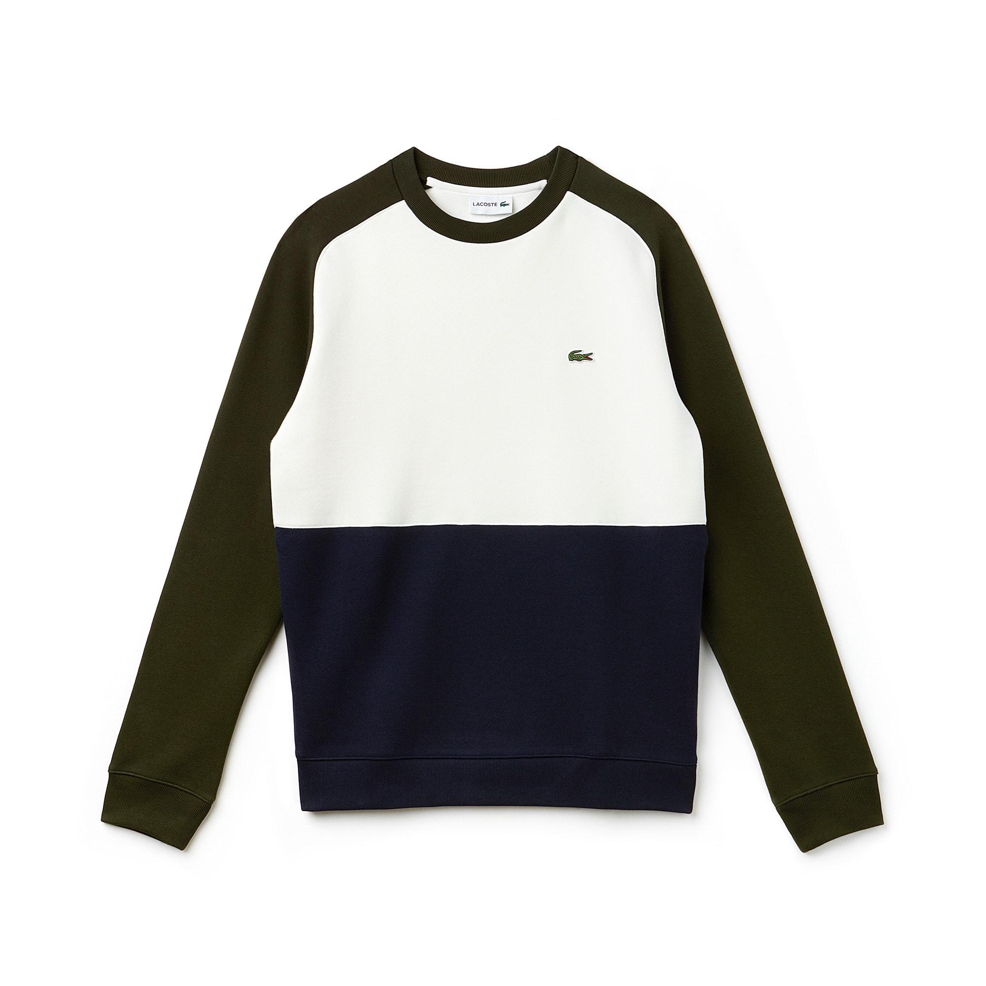 Sweatshirt en molleton piqué de coton color block