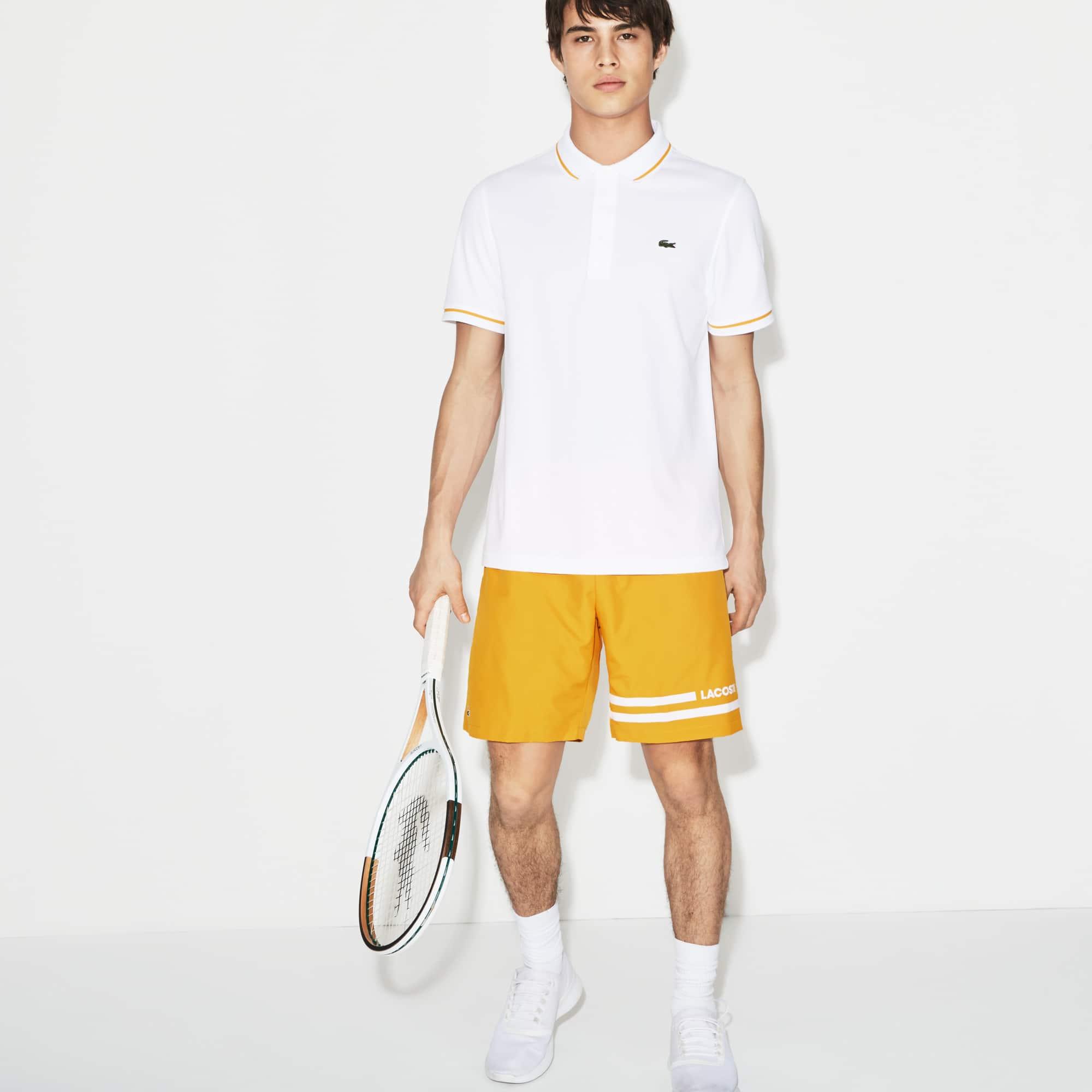 Short Tennis Lacoste SPORT en taffetas avec bandes contrastées
