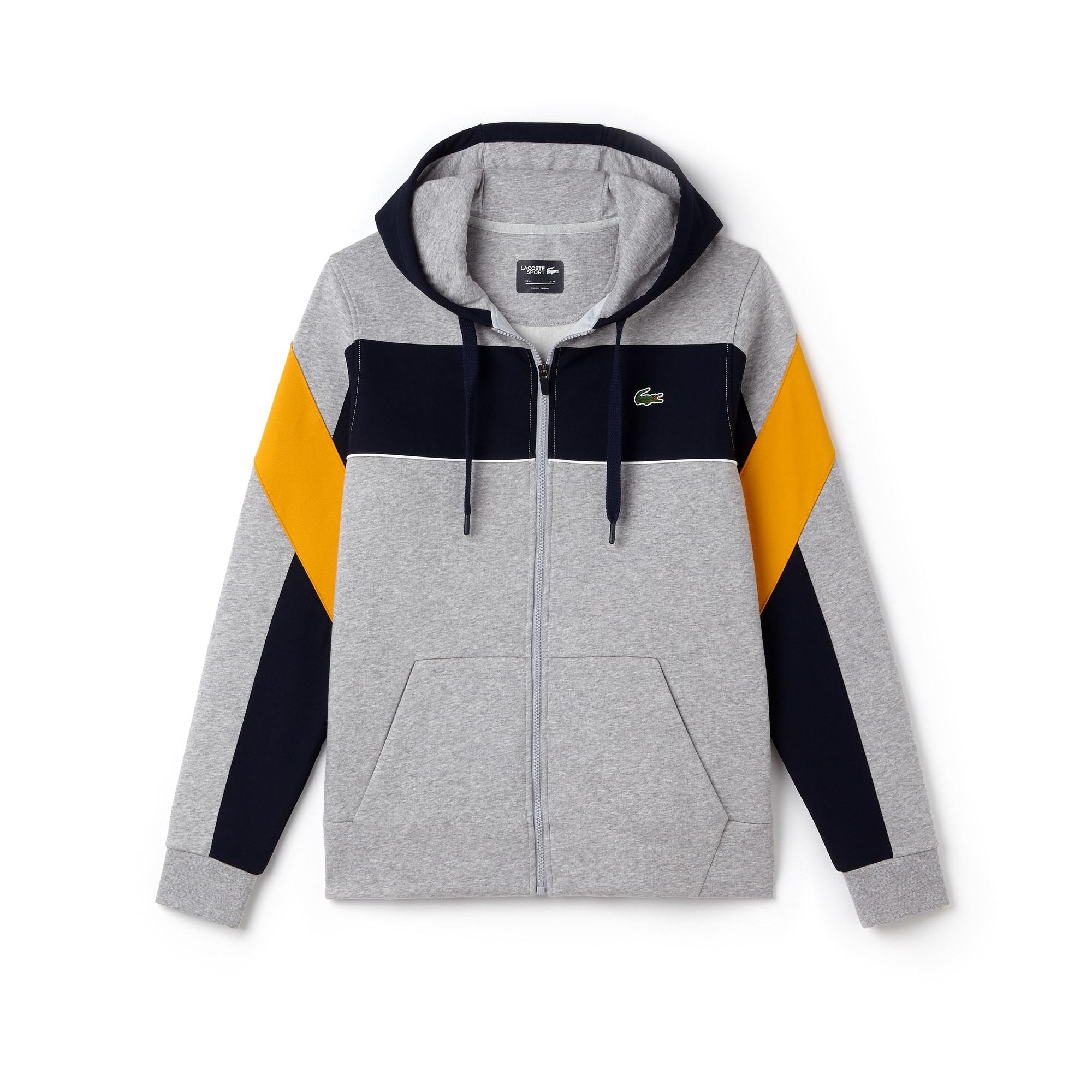 Sweatshirt zippé à capuche Tennis Lacoste SPORT en molleton color block