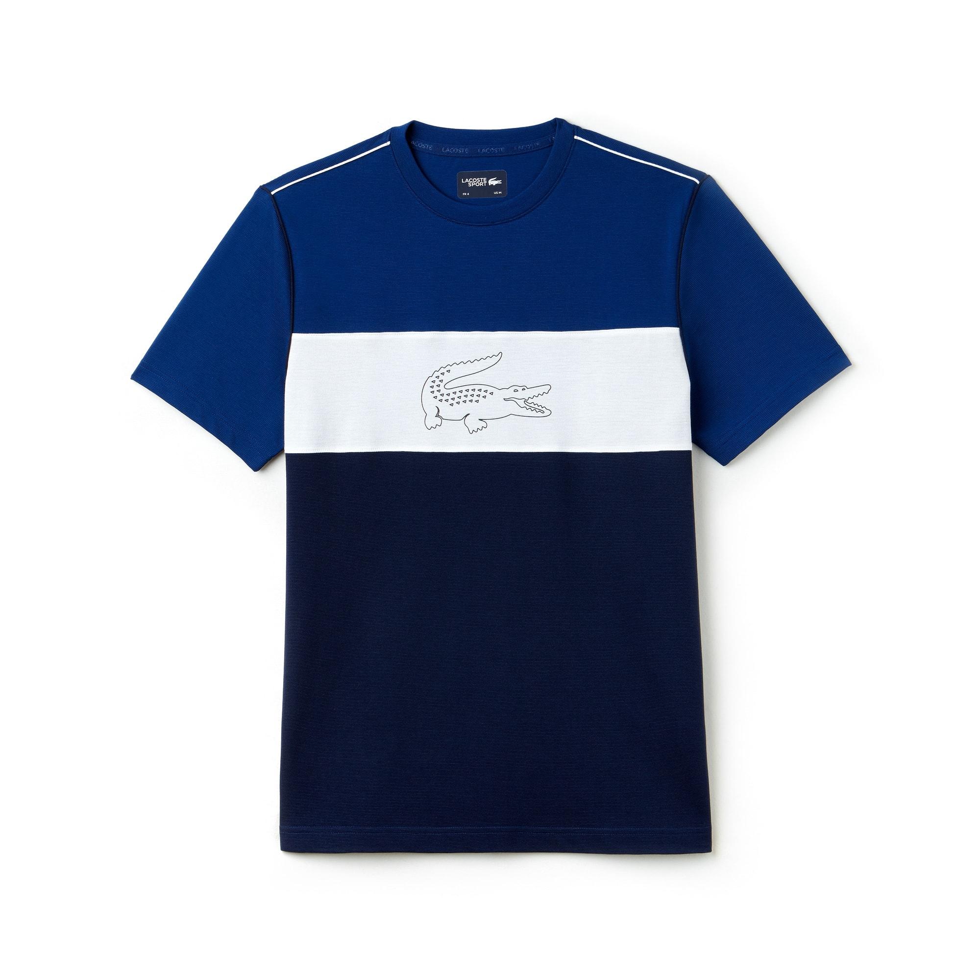 T-shirt Lacoste SPORT en coton ultra léger technique color block