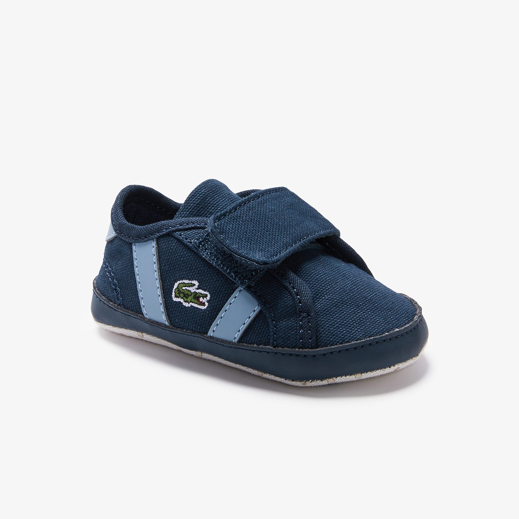 Lacoste Sneakers Sideline bébé en toile Taille 19 Marine/bleu Clair
