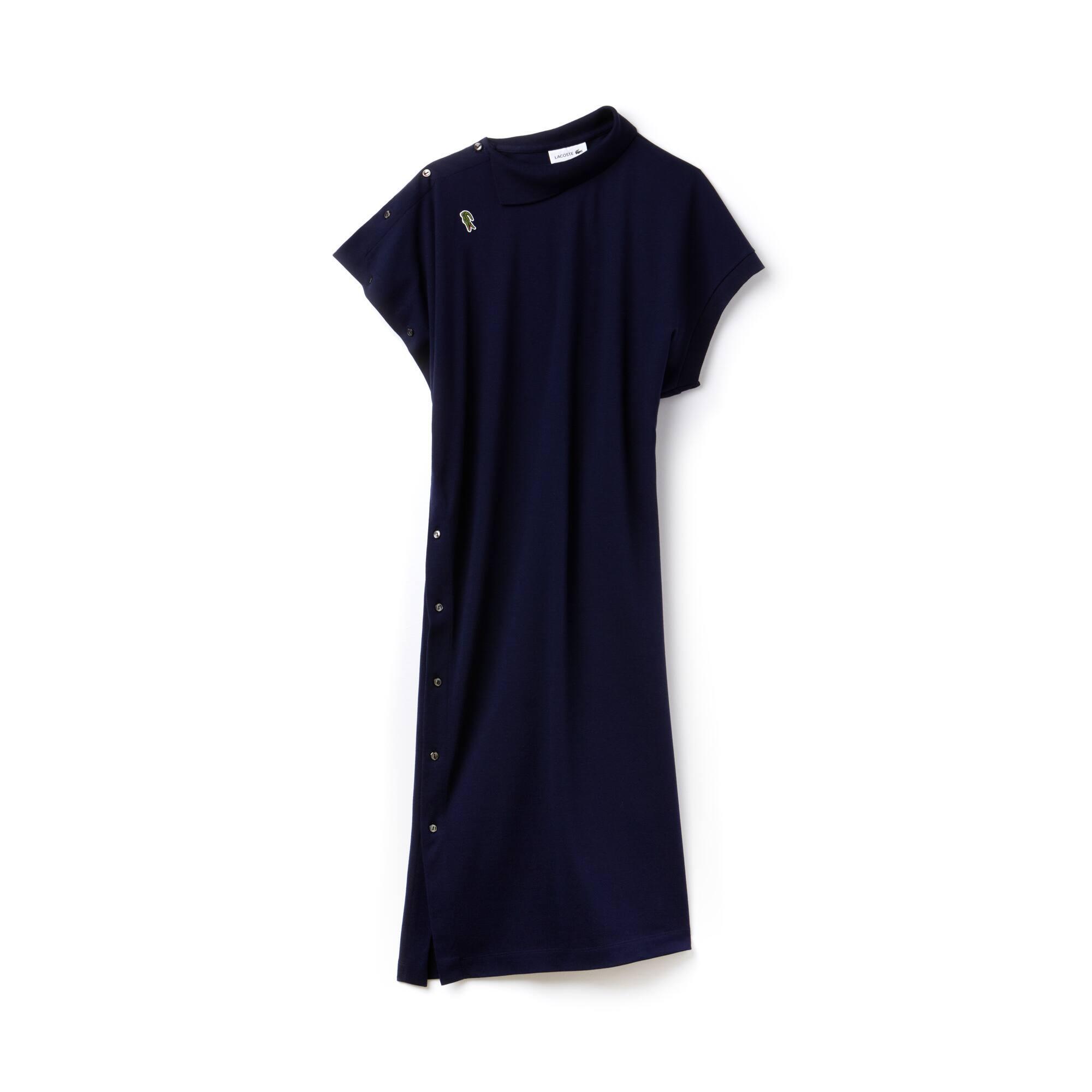 Robe polo à manches asymétriques en piqué de coton Édition Défilé