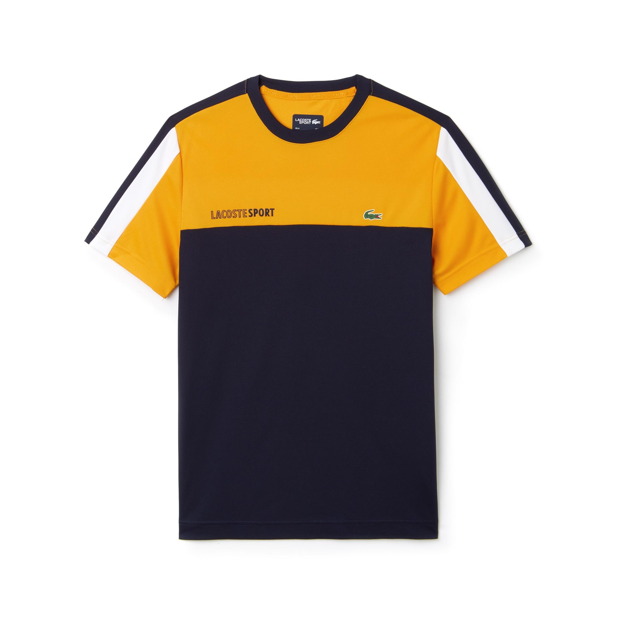 T-shirt col rond Tennis Lacoste SPORT en piqué technique color block