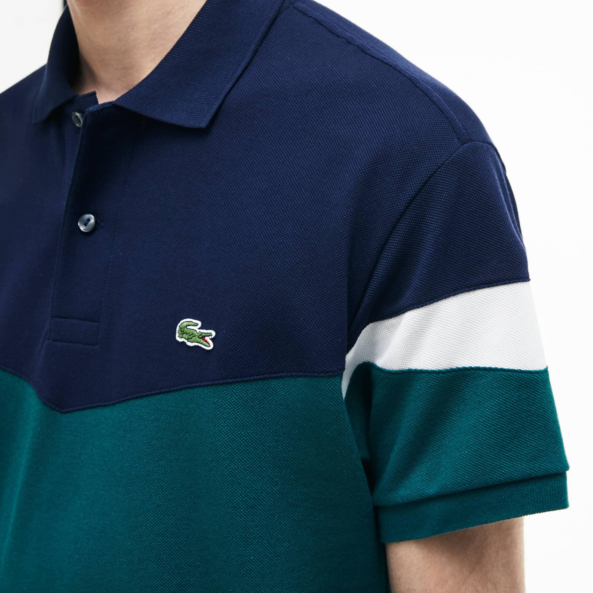 Lacoste - Polo classic fit Lacoste en petit piqué de coton color block - 4