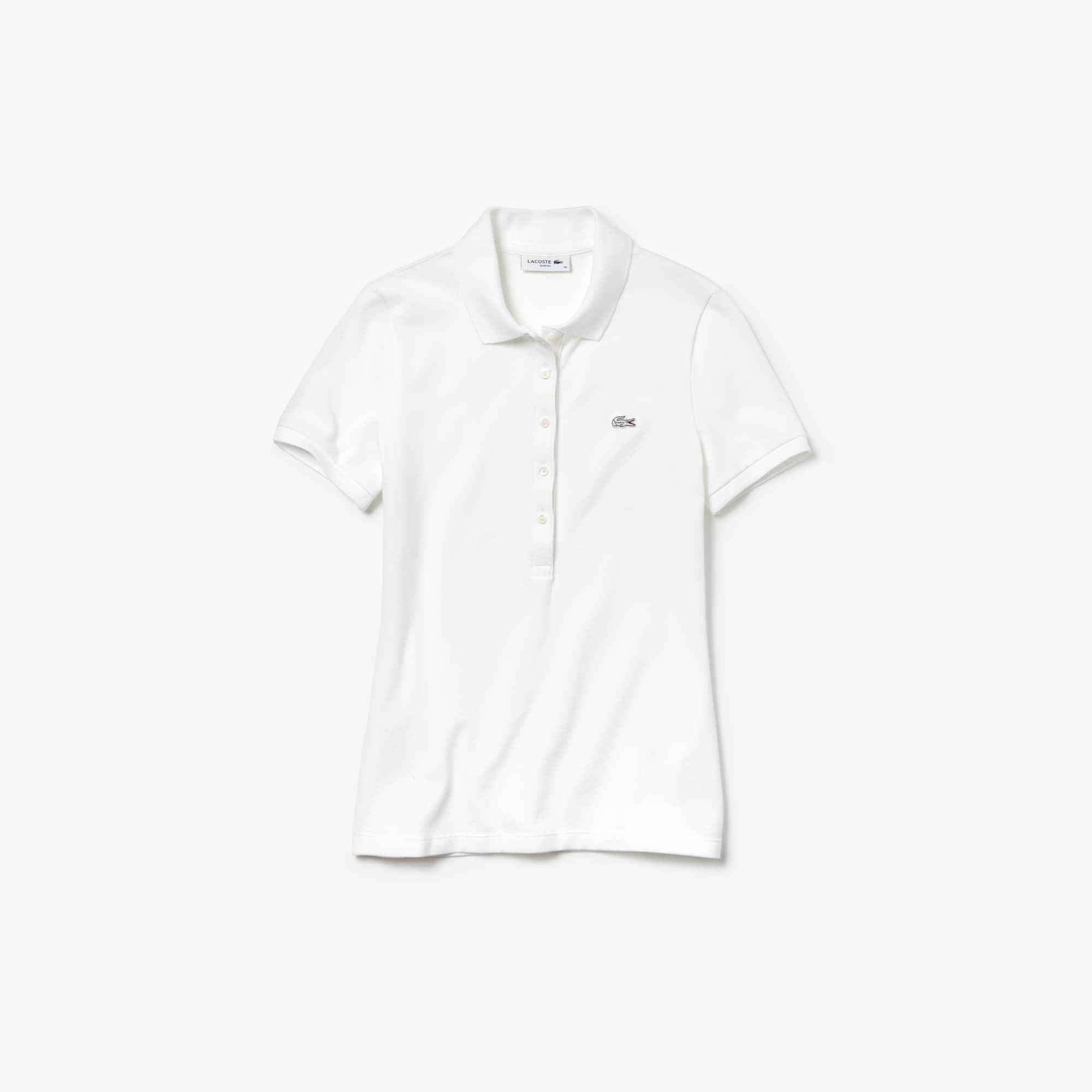 3fb1996824 ... Polo slim fit Lacoste en mini piqué de coton stretch uni