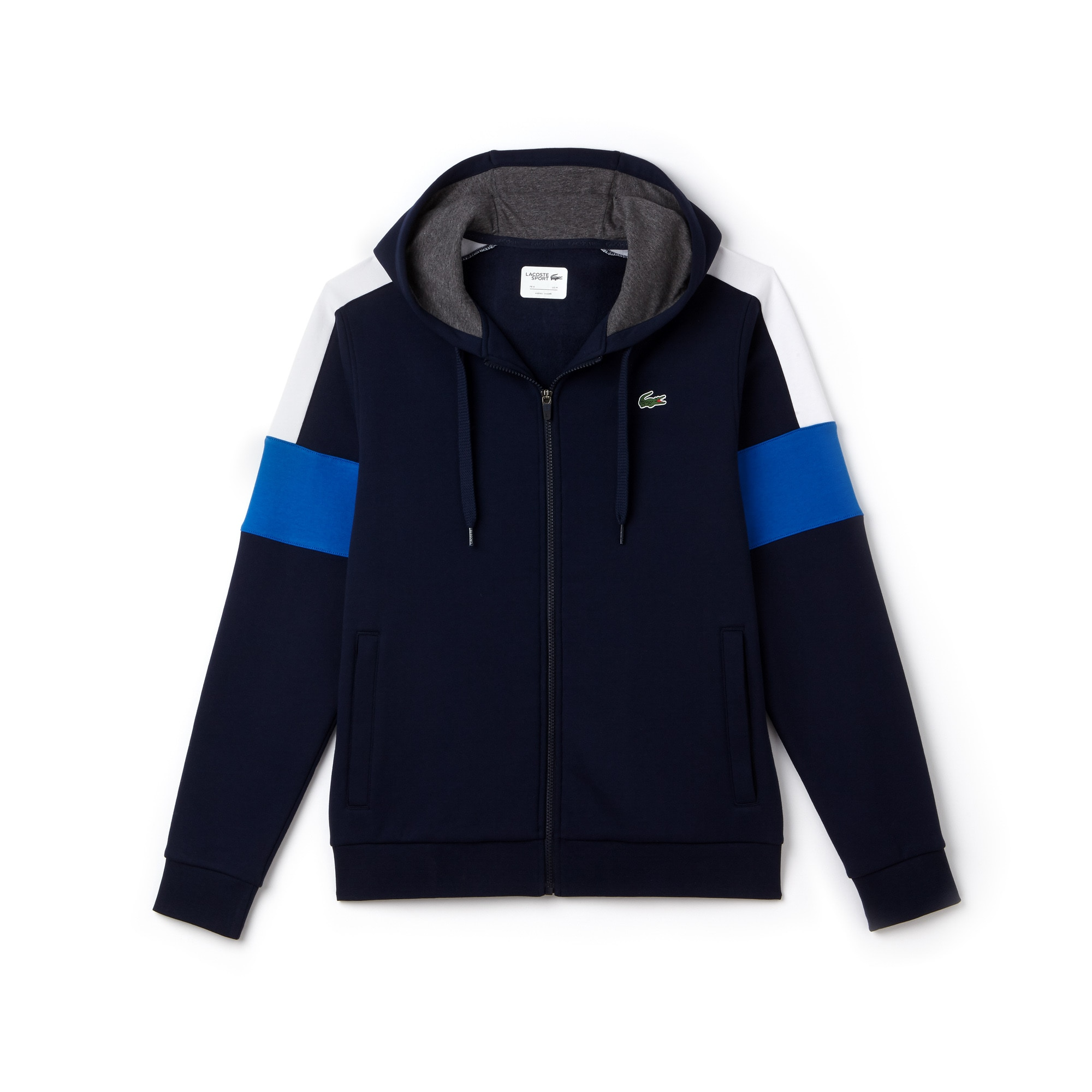 Sweatshirt zippé Tennis Lacoste SPORT en molleton color block