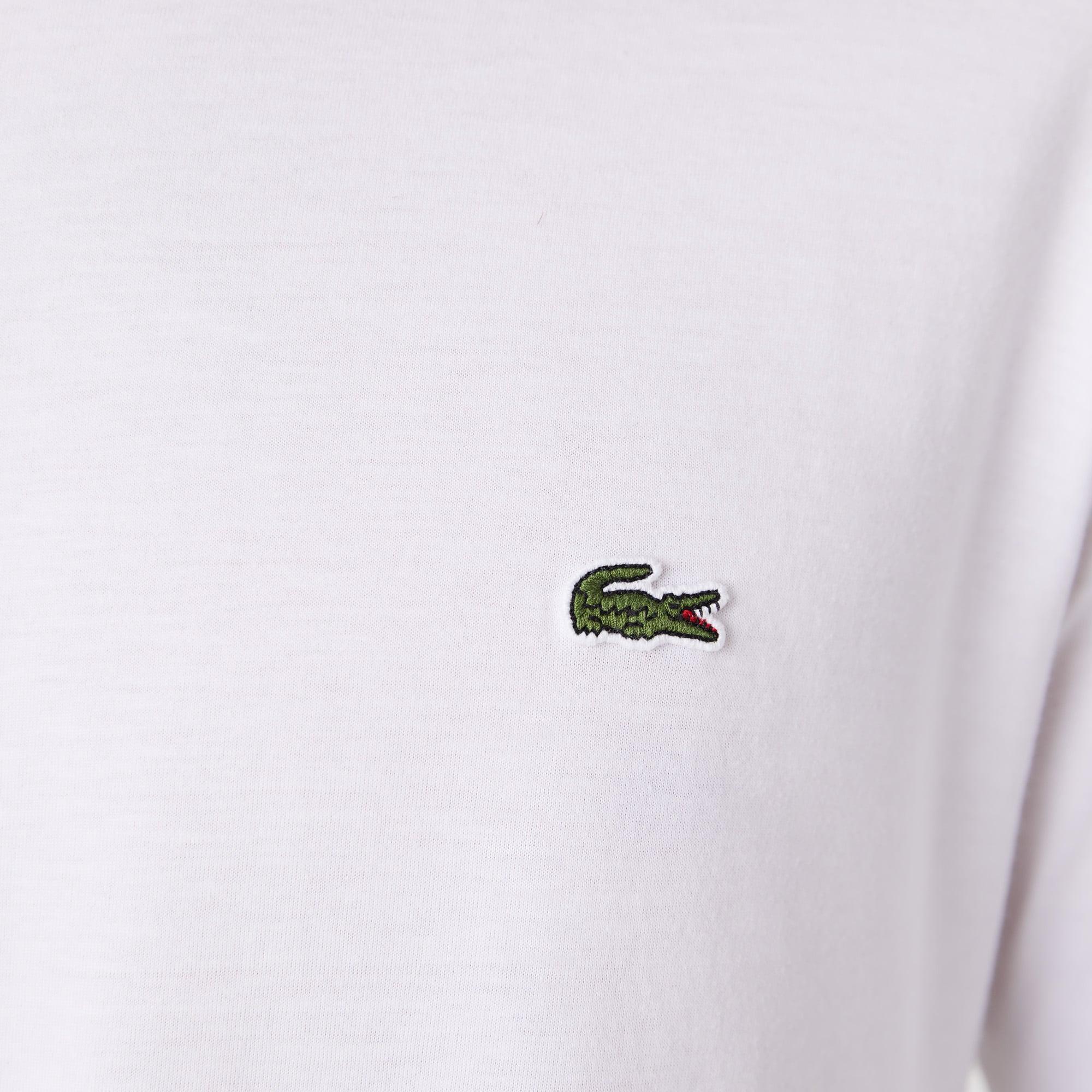 c1c0dd7830 T-shirt col rond manches longues en jersey de coton pima uni