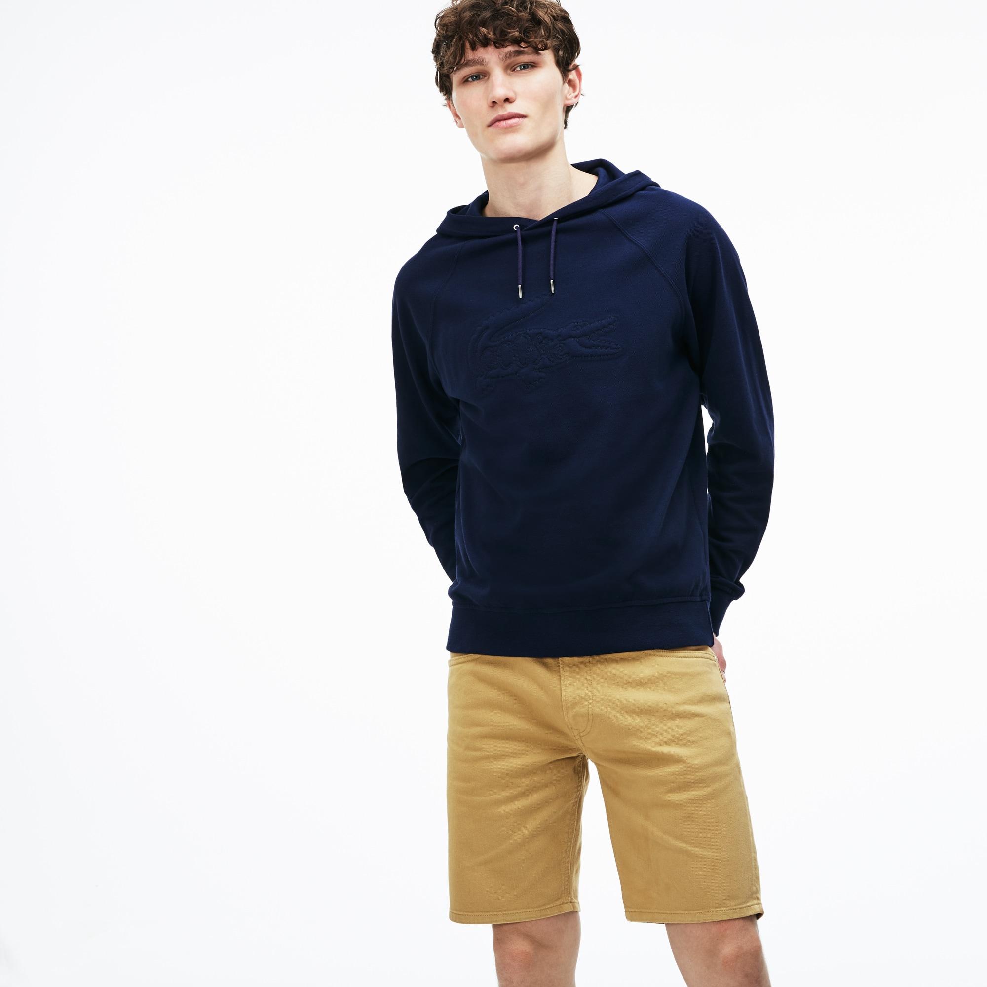 Bermuda 5 poches slim fit en twill stretch uni