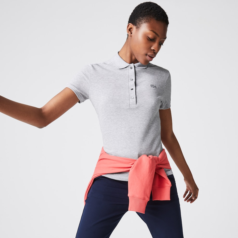 Polo Lacoste slim fit en piqué de coton stretch