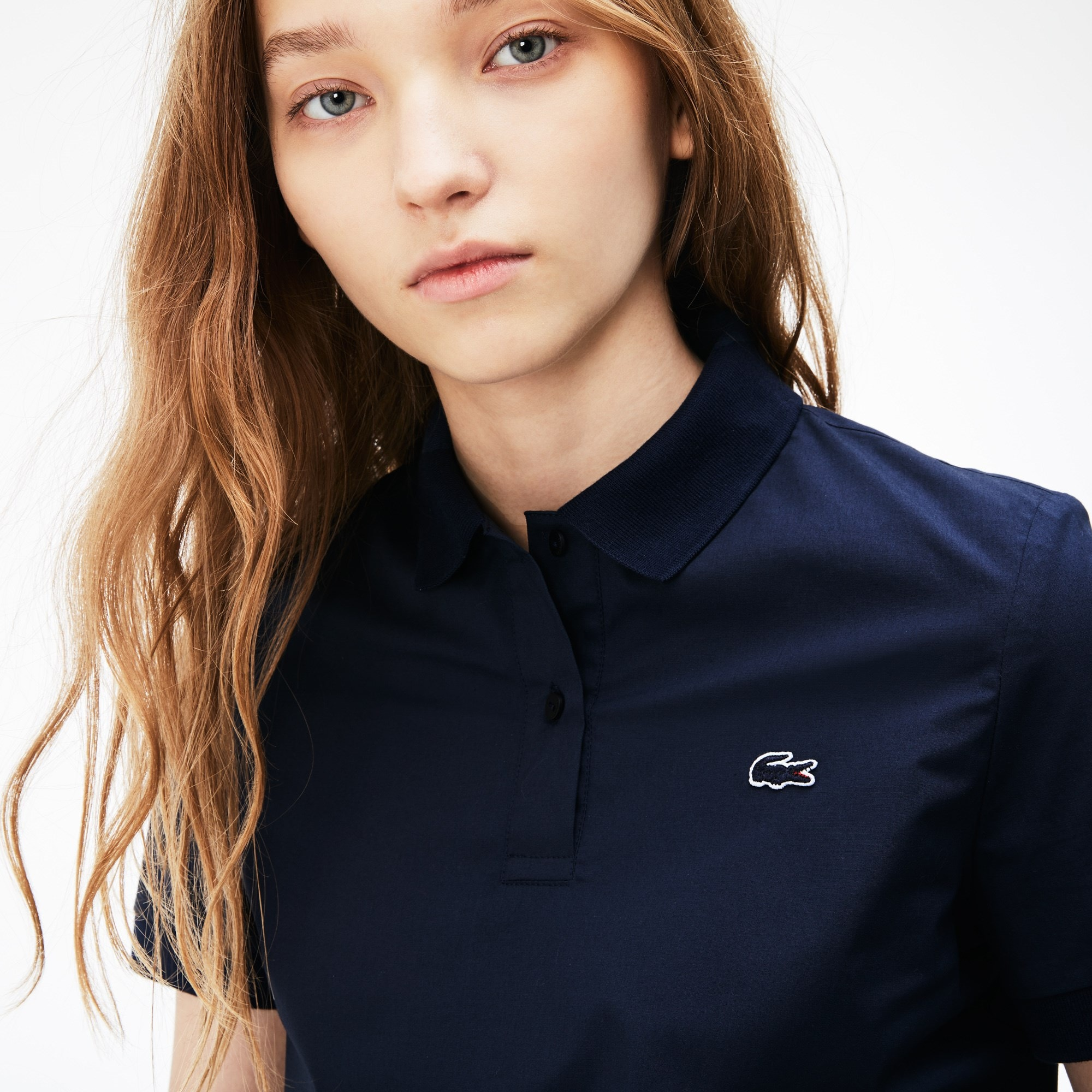 Polo regular fit Lacoste en popeline stretch
