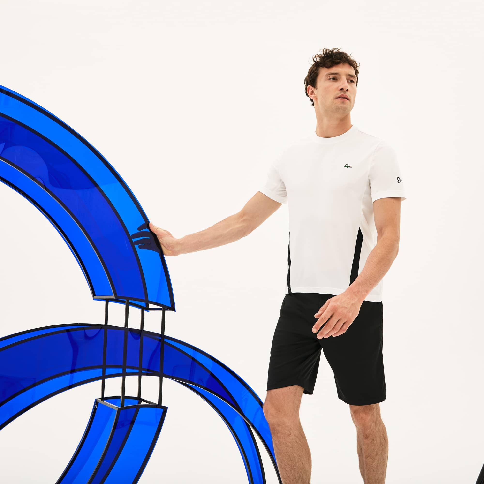T-shirt col rond Lacoste SPORT x Novak Djokovic - en jersey technique stretch