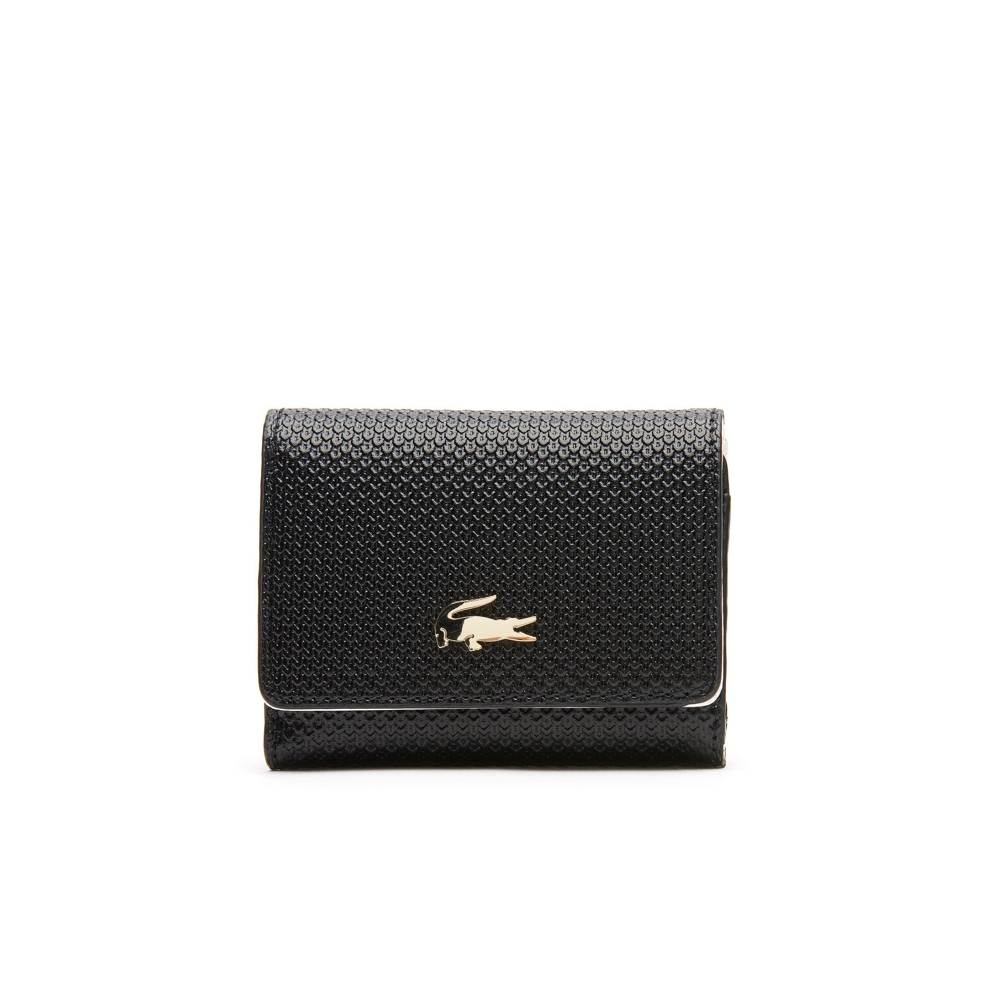 aabd74809b Lacoste Petit portefeuille Chantaco en cuir piqué bicolore 4 cartes Taille  Taille unique Black