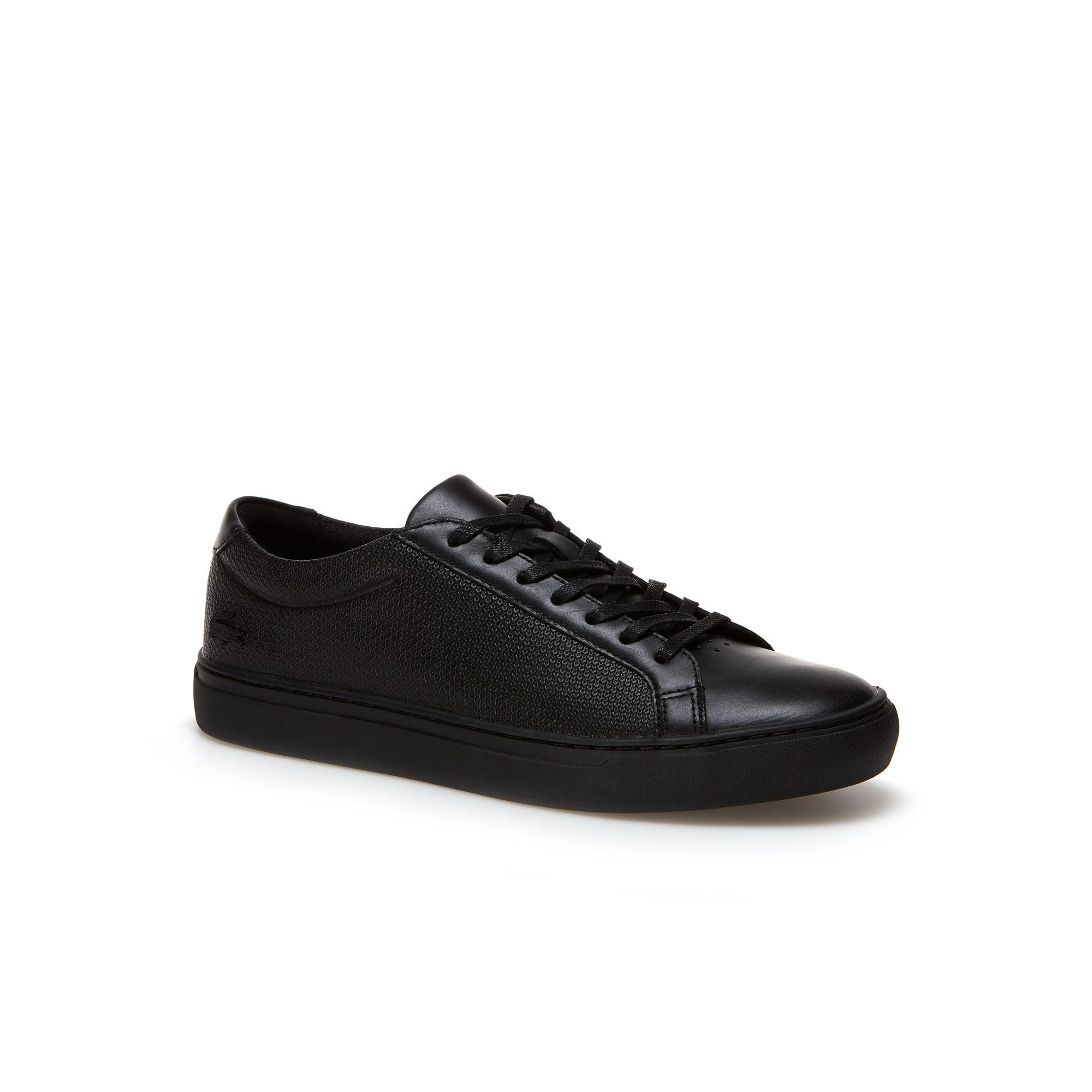 Sneakers L.12.12 en cuir et piqué résille