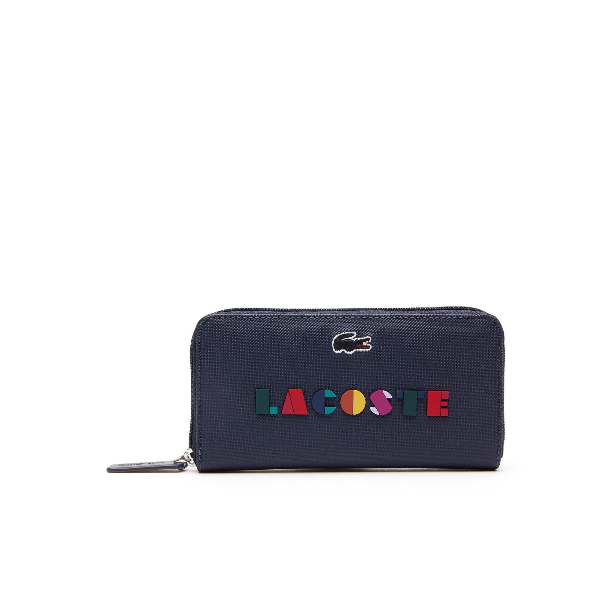 Portefeuille zippé L.12.12 Concept avec marquage Lacoste