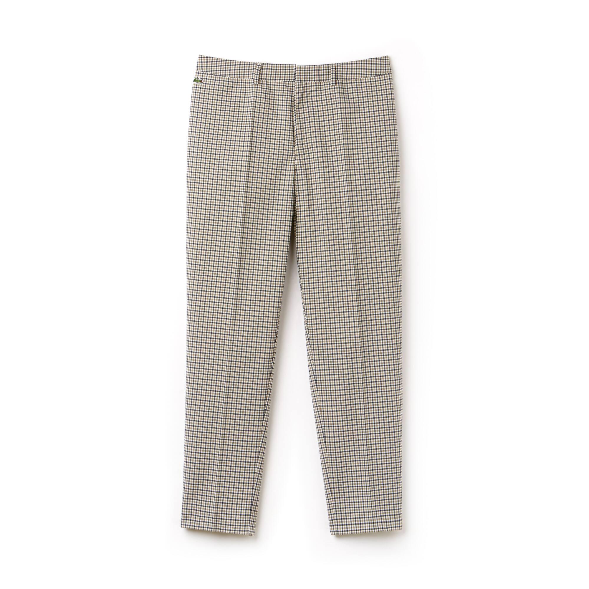 Pantalon chino Lacoste LIVE en twill stretch à carreaux