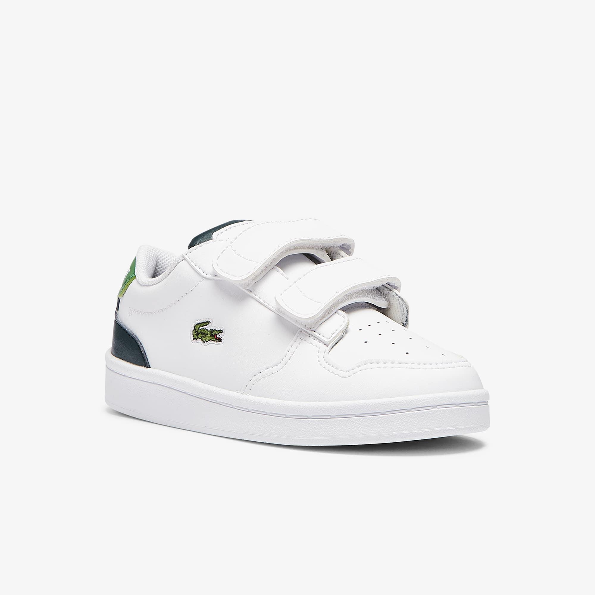 Lacoste Sneakers Masters Cup bébé en cuir et synthétique Taille 19 Blanc/vert Foncé