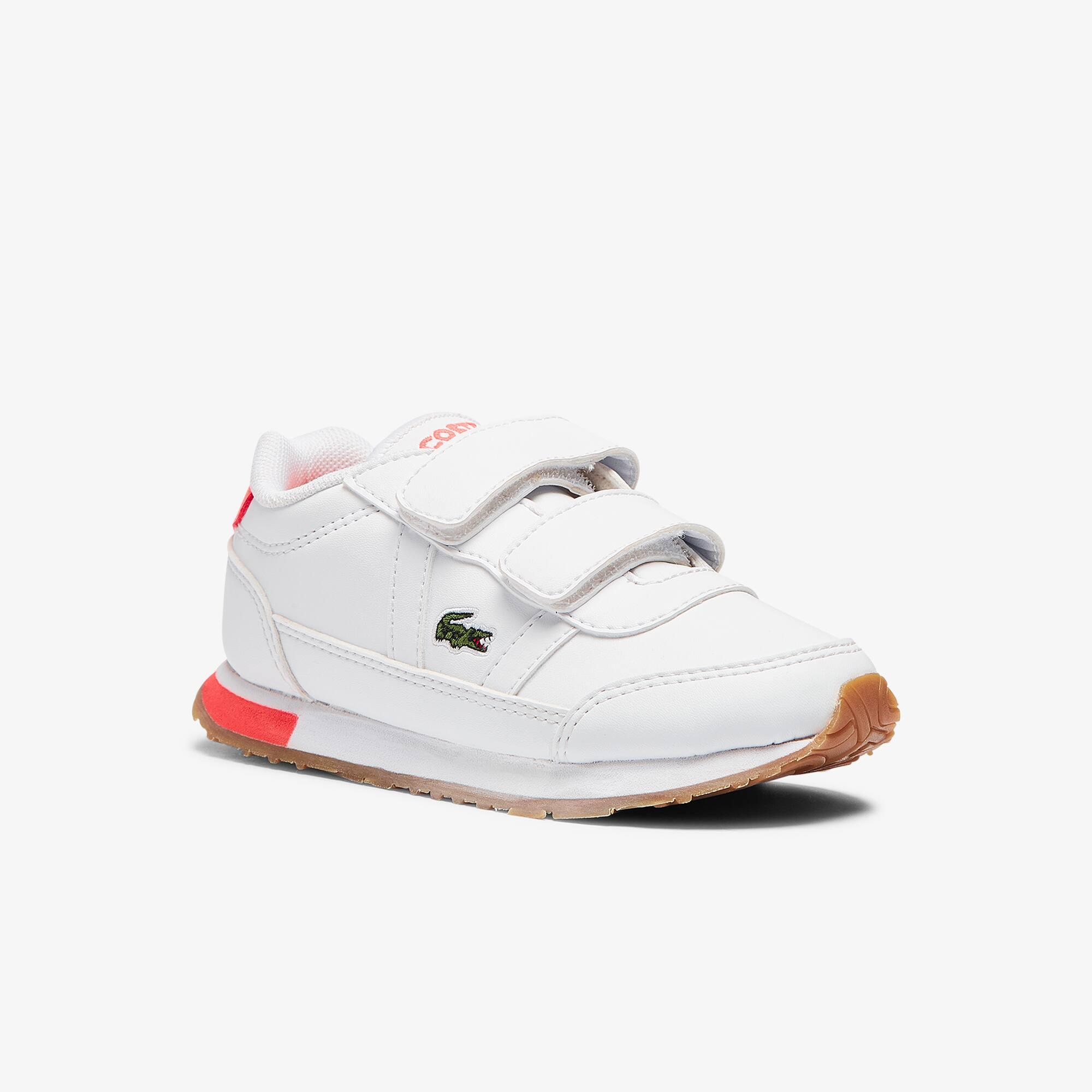 Lacoste Sneakers Partner bébé en tissu Taille 26 Blanc/rose