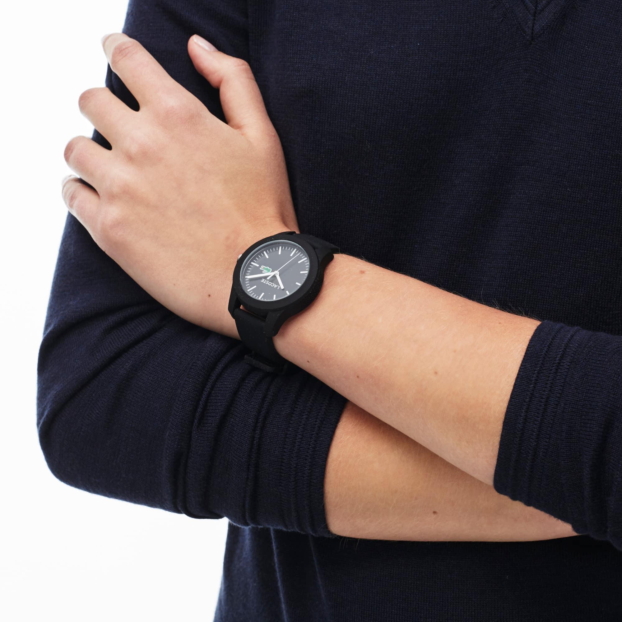Montre Lacoste 12.12 Femme avec Bracelet en Silicone Noir