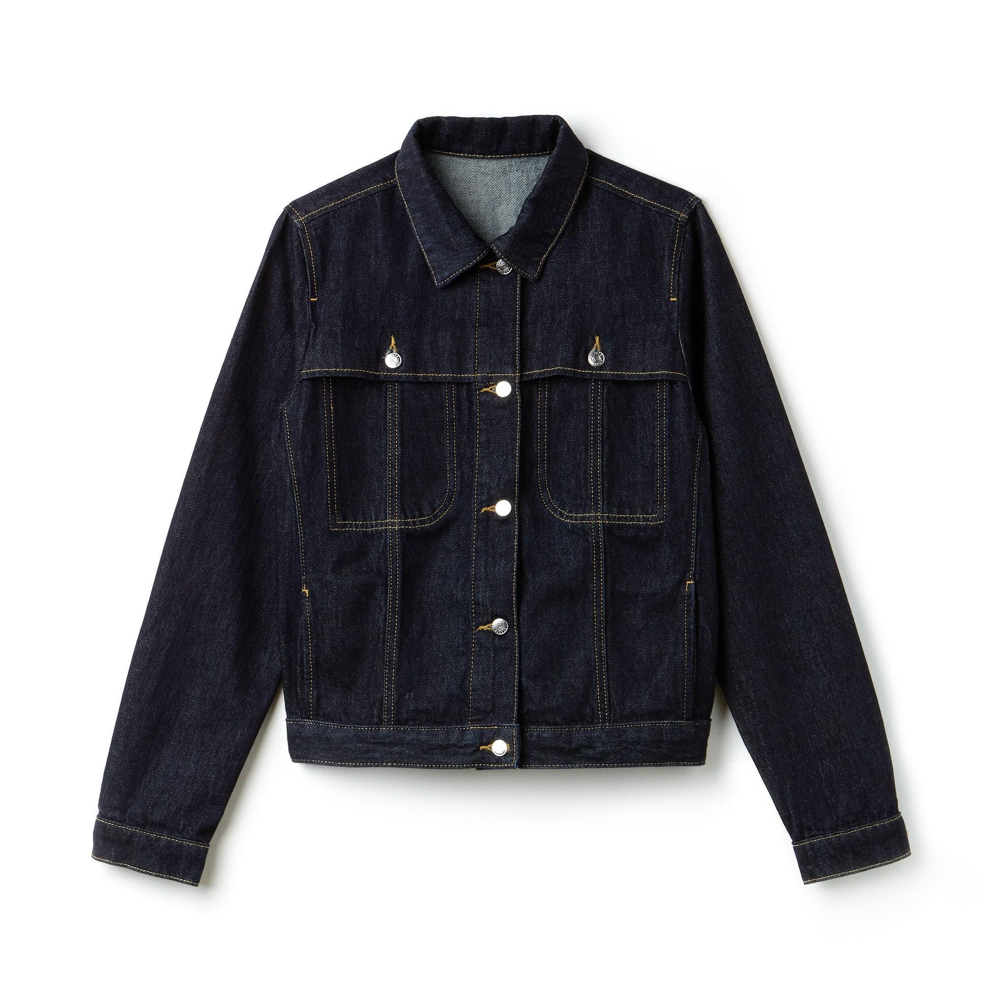 Veste courte boutonnée en jean