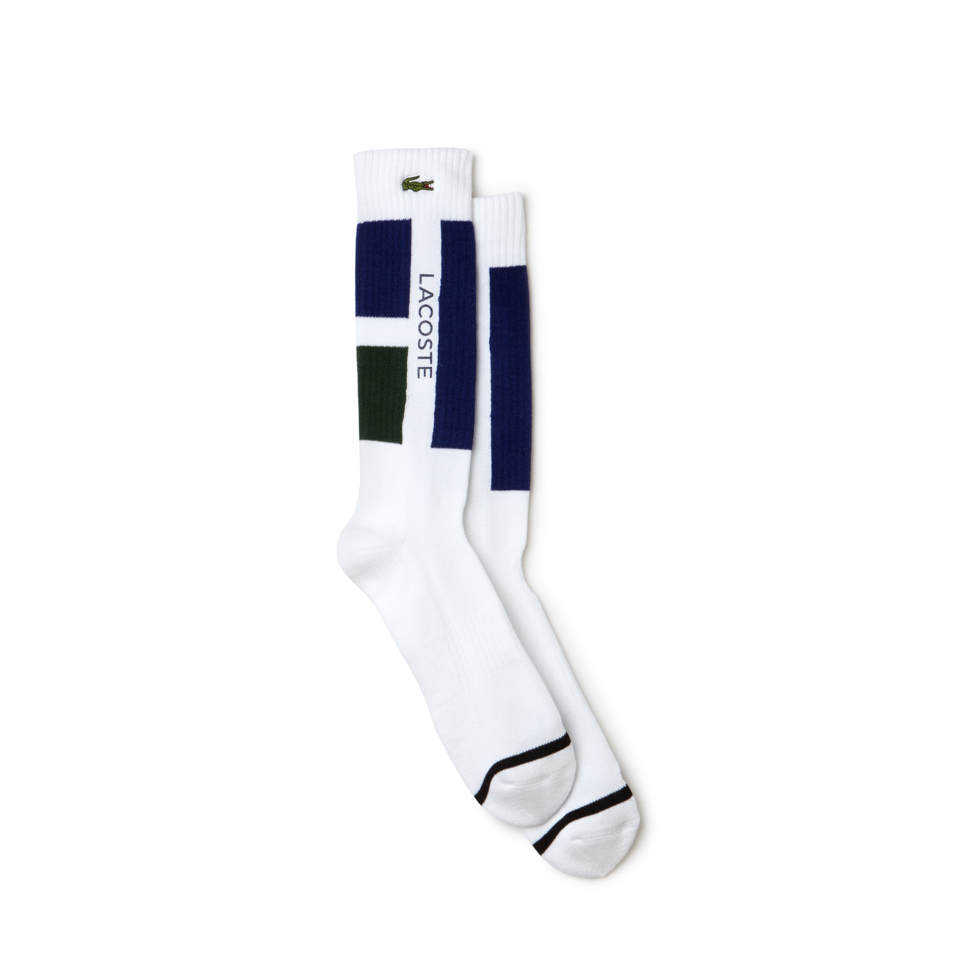 Chaussettes Tennis Lacoste SPORT en jersey color block