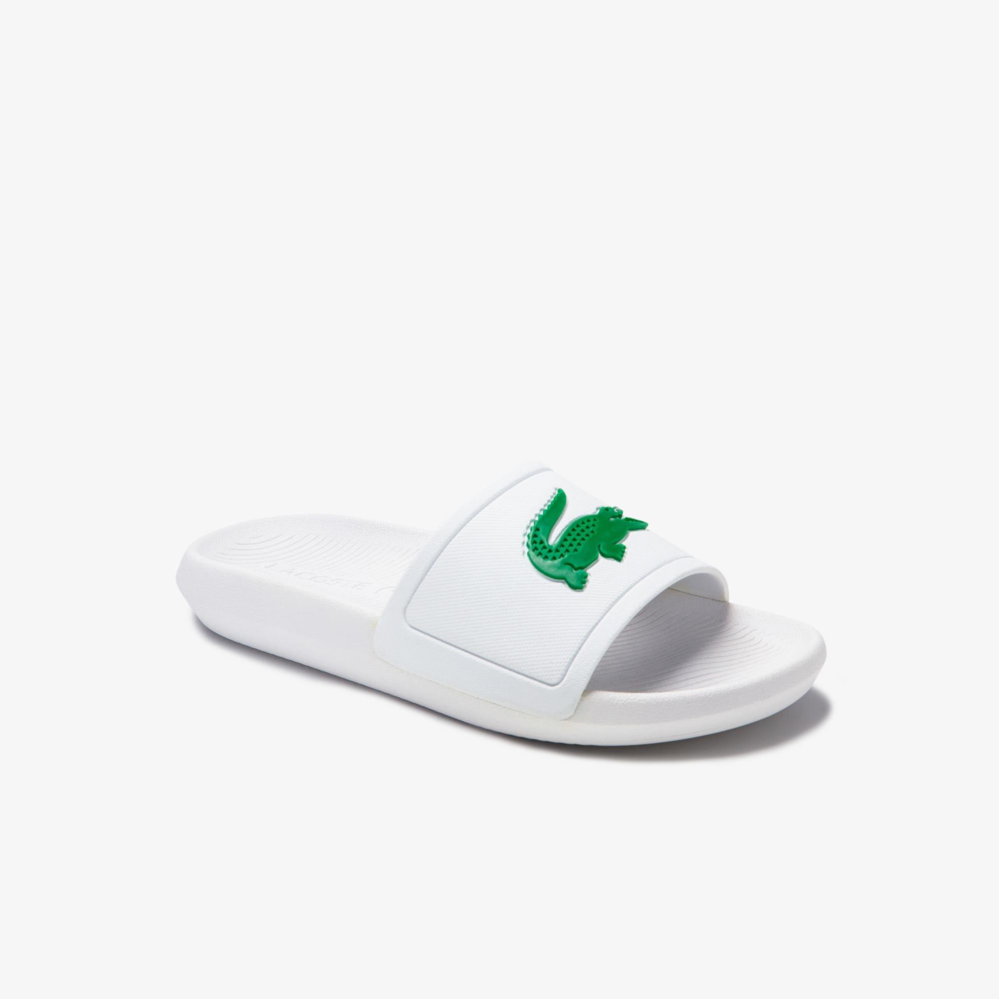 Lacoste Sandales Croco femme en synthétique Taille 35.5 Blanc/vert