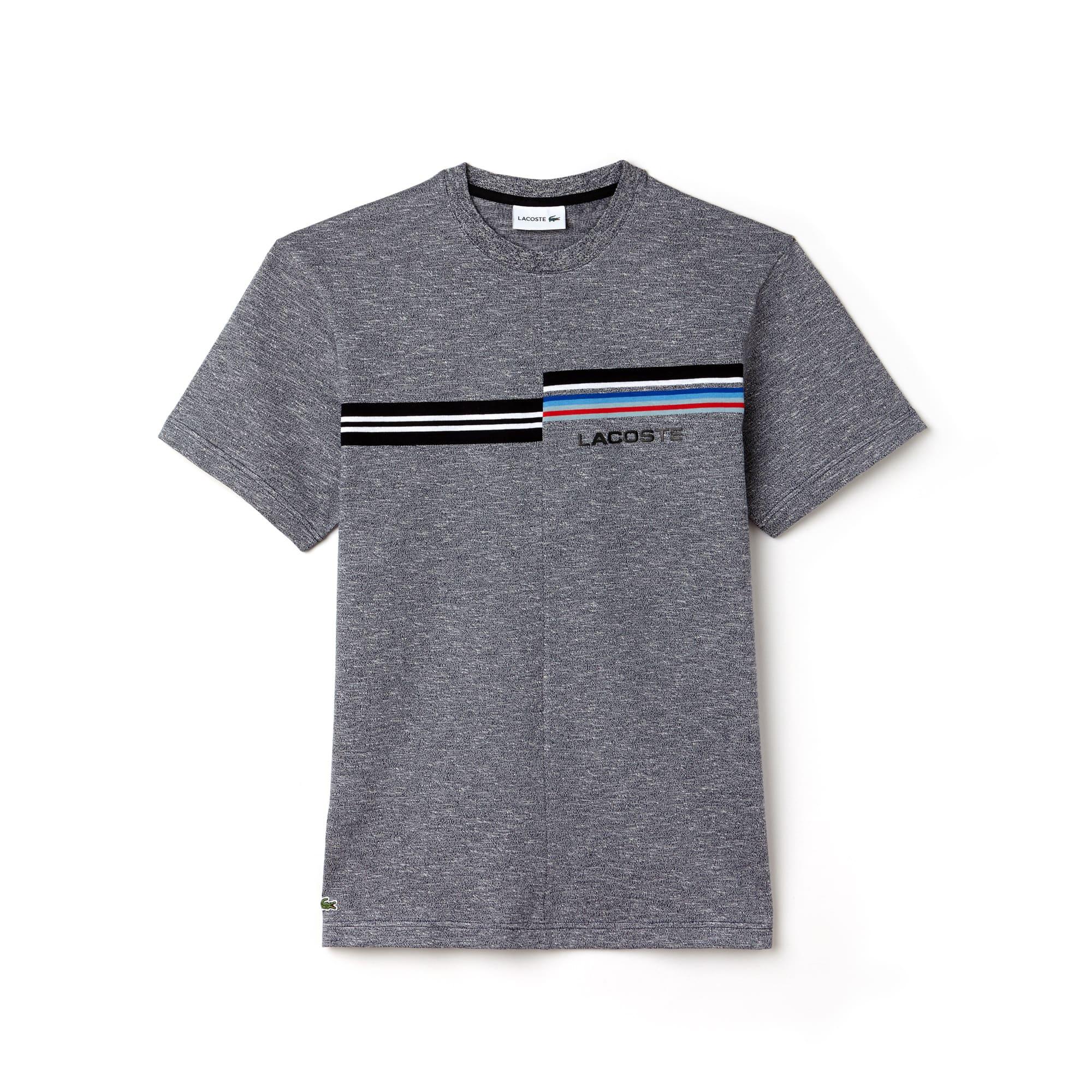 T-shirt col rond en jersey avec imprimé et marquage 3D Lacoste