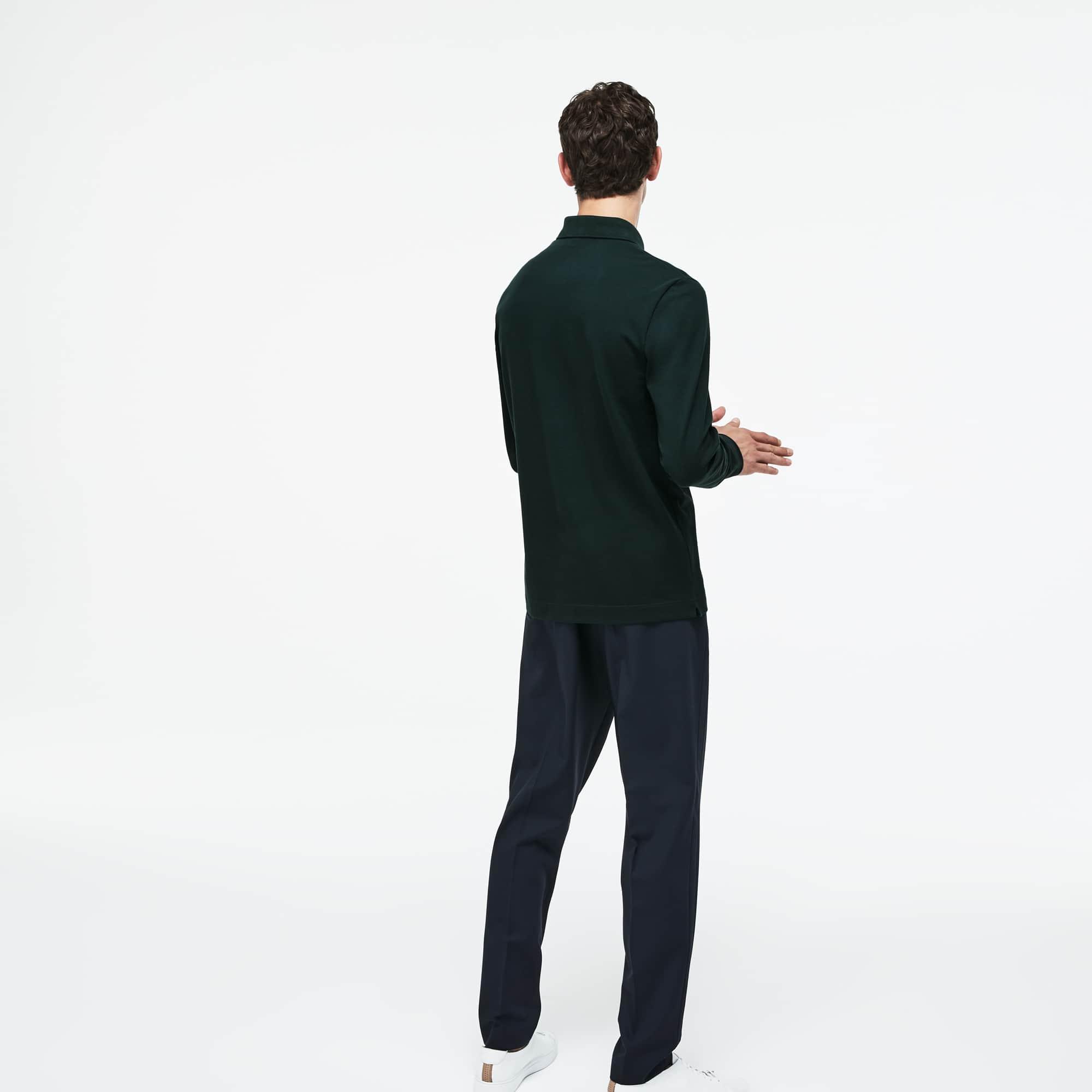 Lacoste - Paris Polo Regular Fit Lacoste à manches longues en piqué de coton stretch - 2