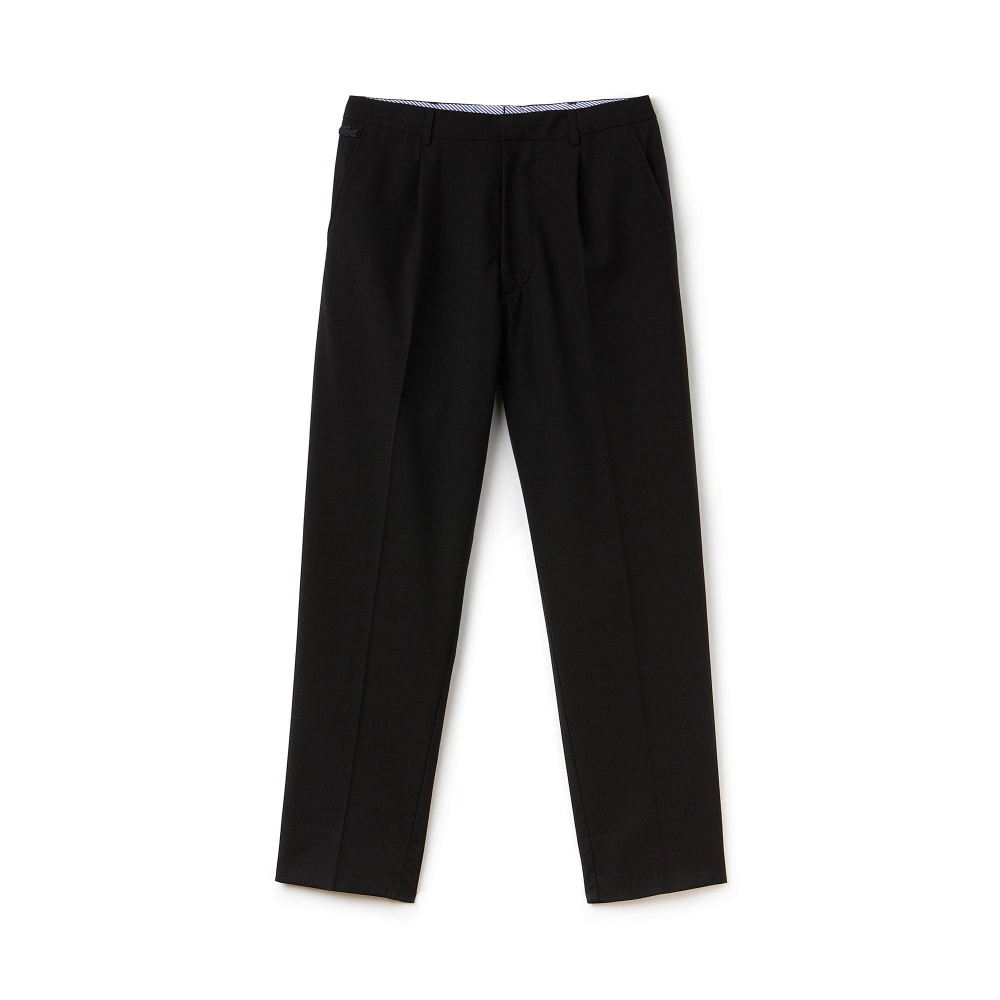 Pantalon chino à pinces Lacoste LIVE en crêpe stretch uni