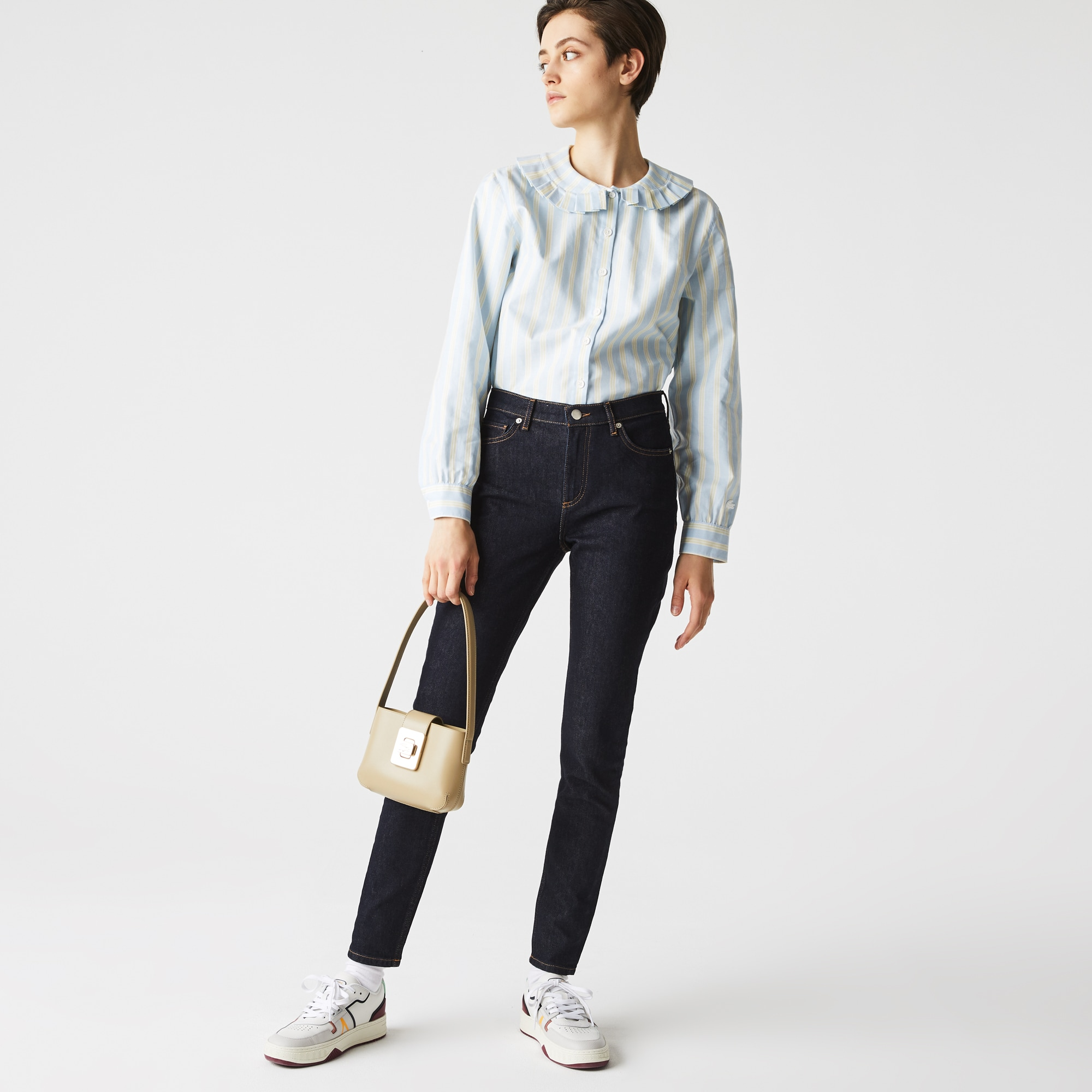 Lacoste Jean skinny en coton stretch Taille 26 Bleu