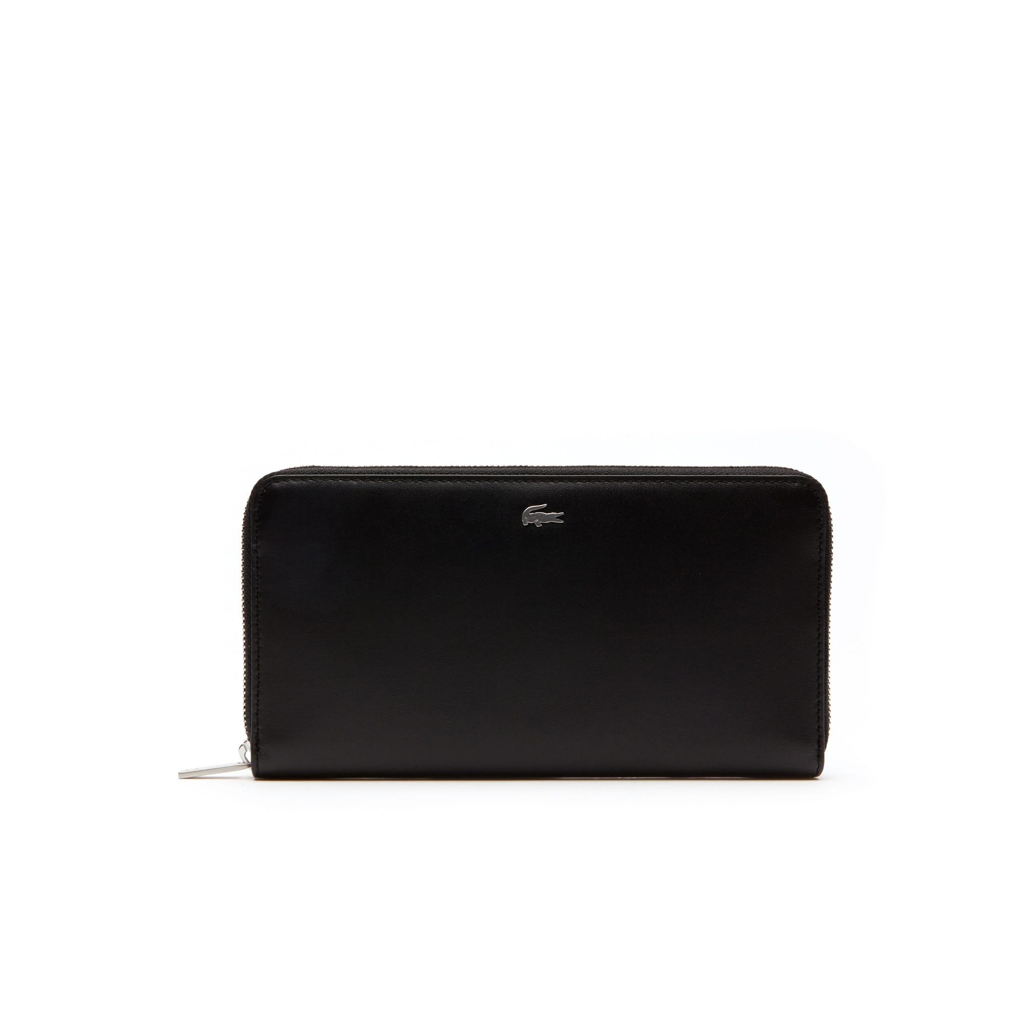 Portefeuille zippé Fitzgerald en cuir color block 6 cartes
