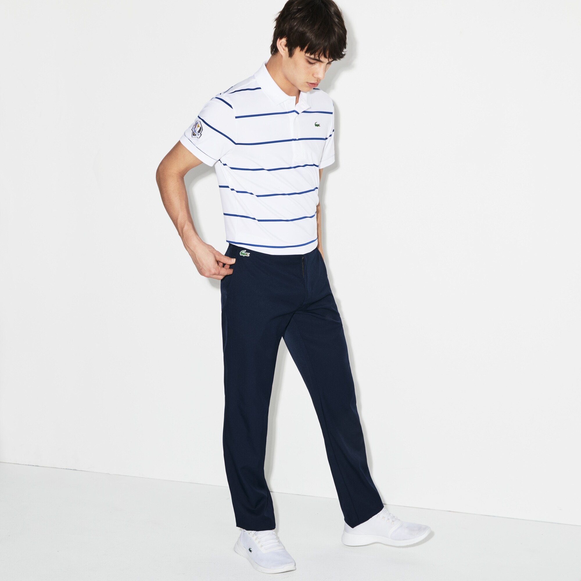 Pantalon chino Golf Lacoste SPORT en gabardine technique ultra dry uni