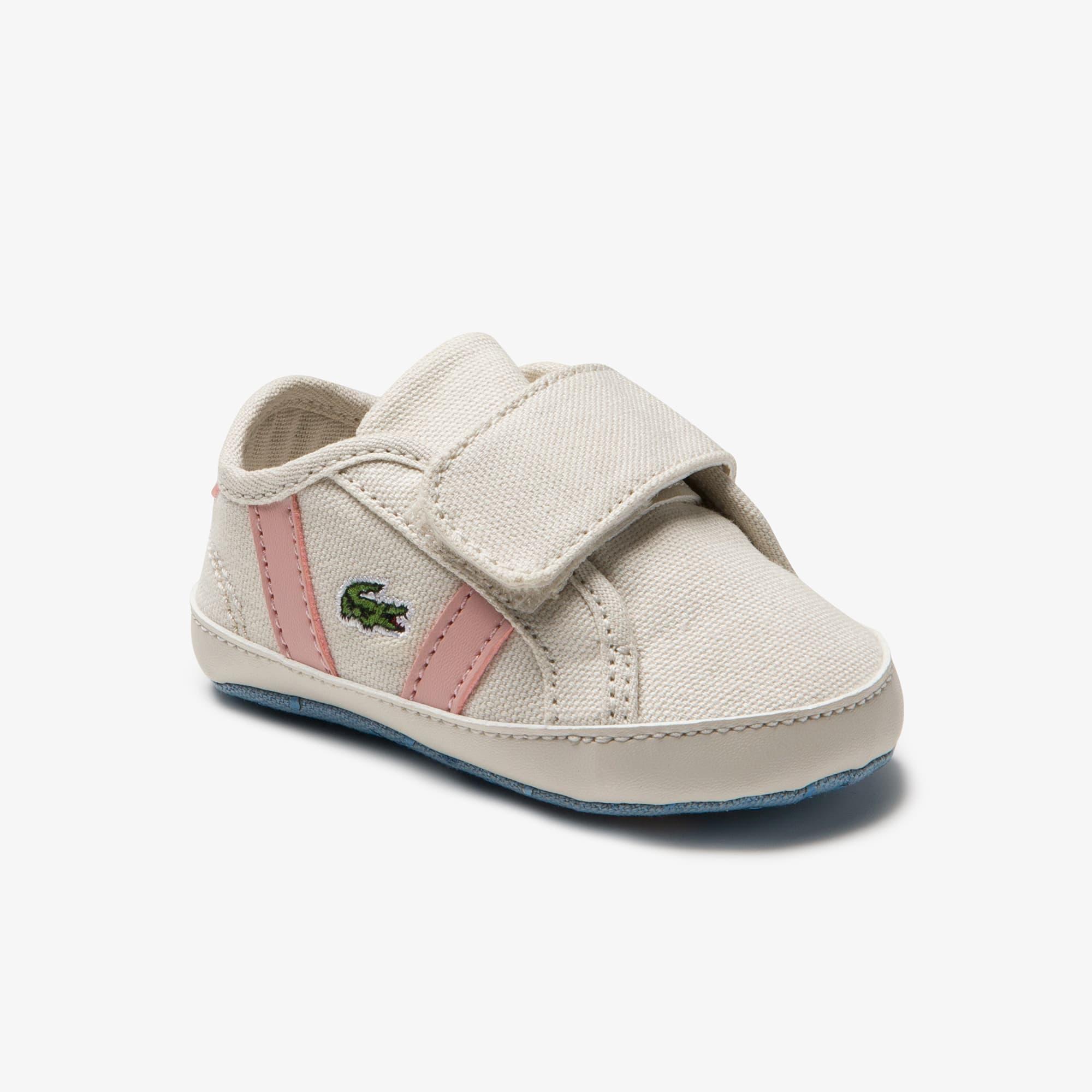 Lacoste Sneakers Sideline bébé en toile Taille 15 Off White/light Pink