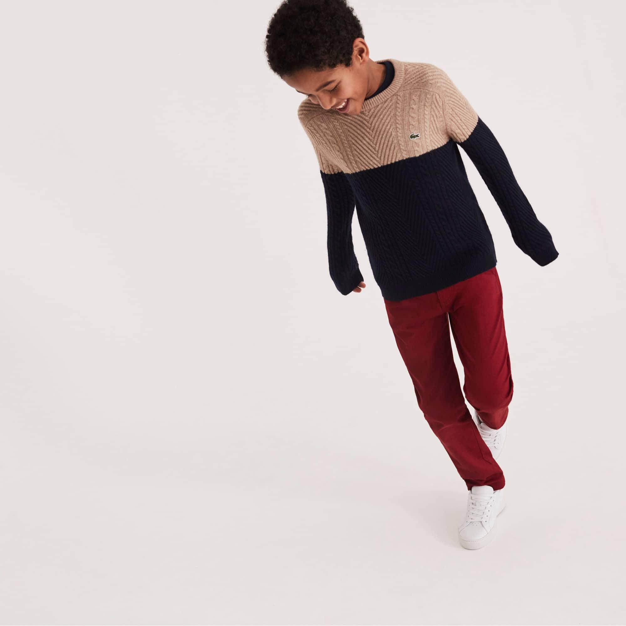 Pantalon chino Enfant en gabardine de coton coloré
