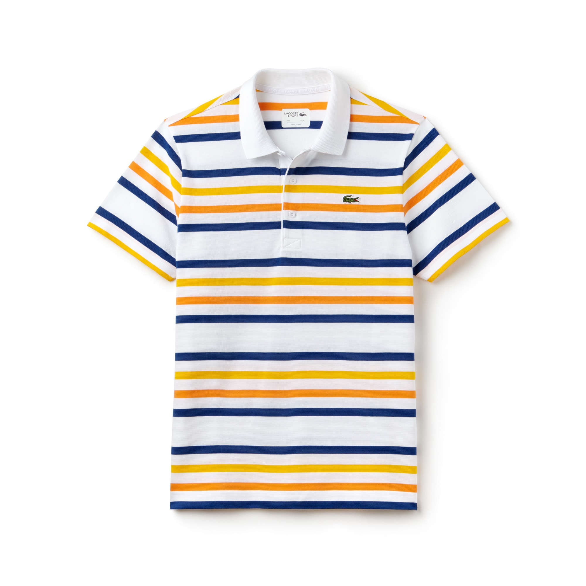 Polo Tennis Lacoste SPORT en coton ultra léger à rayures