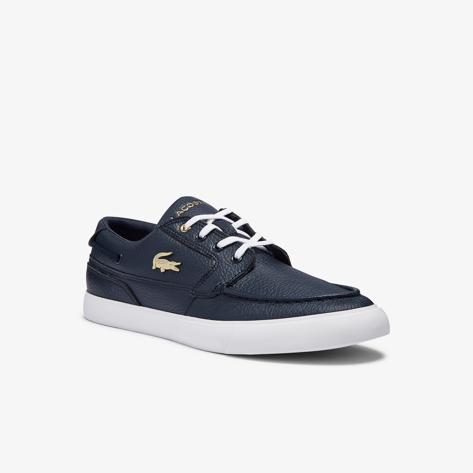 Lacoste Chaussures bateau Bayliss Luxe homme en cuir Taille 46.5 Marine/blanc
