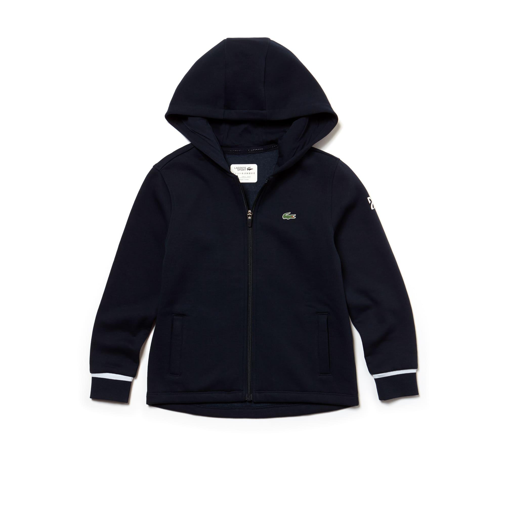 Sweatshirt à capuche Garçon Lacoste SPORT COLLECTION NOVAK DJOKOVIC SUPPORT WITH STYLE en molleton