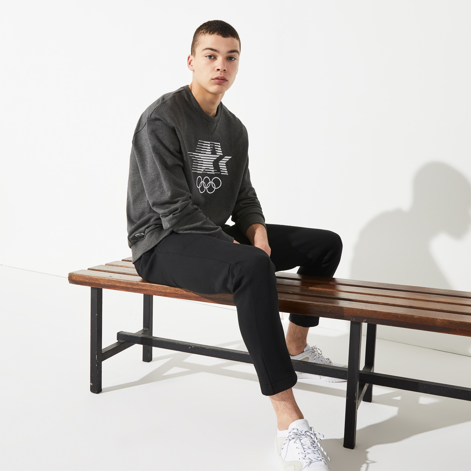Sweatshirt Olympic Heritage Collection by Lacoste en coton brodé
