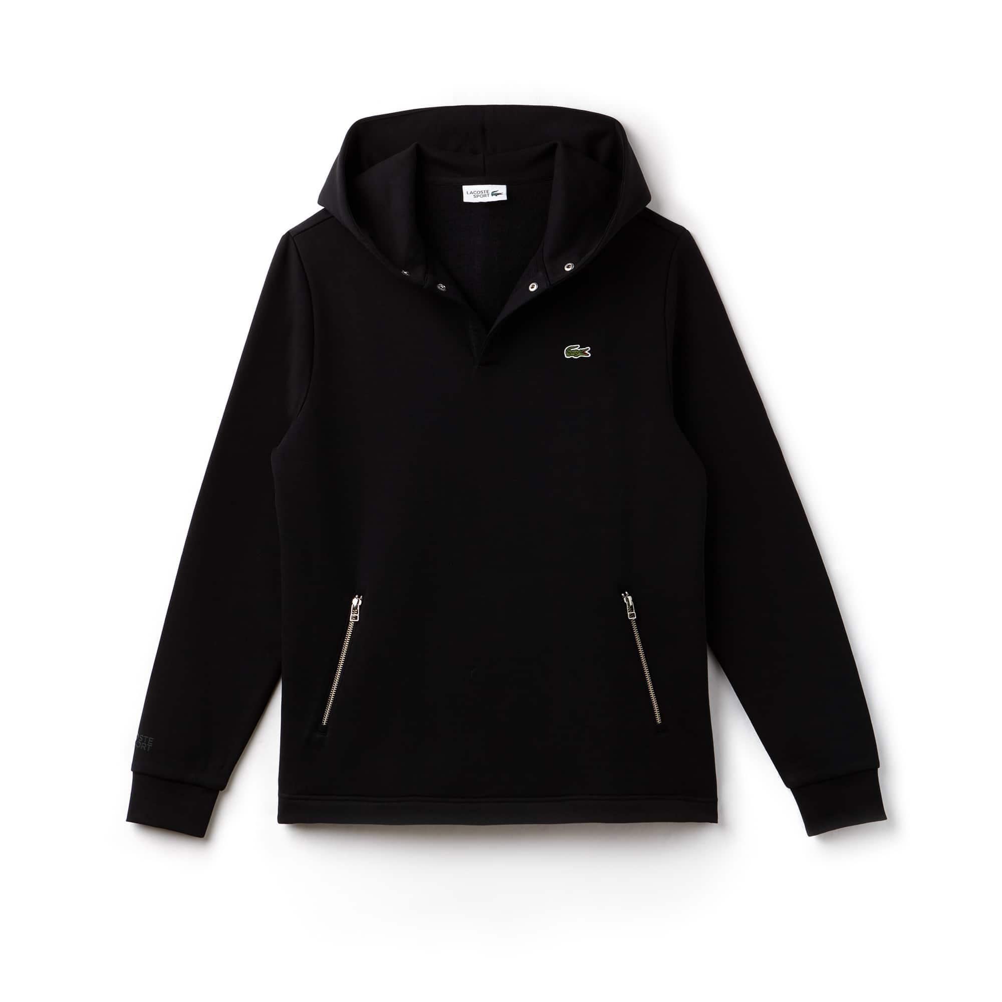 Sweatshirt à capuche Tennis Lacoste SPORT en molleton uni