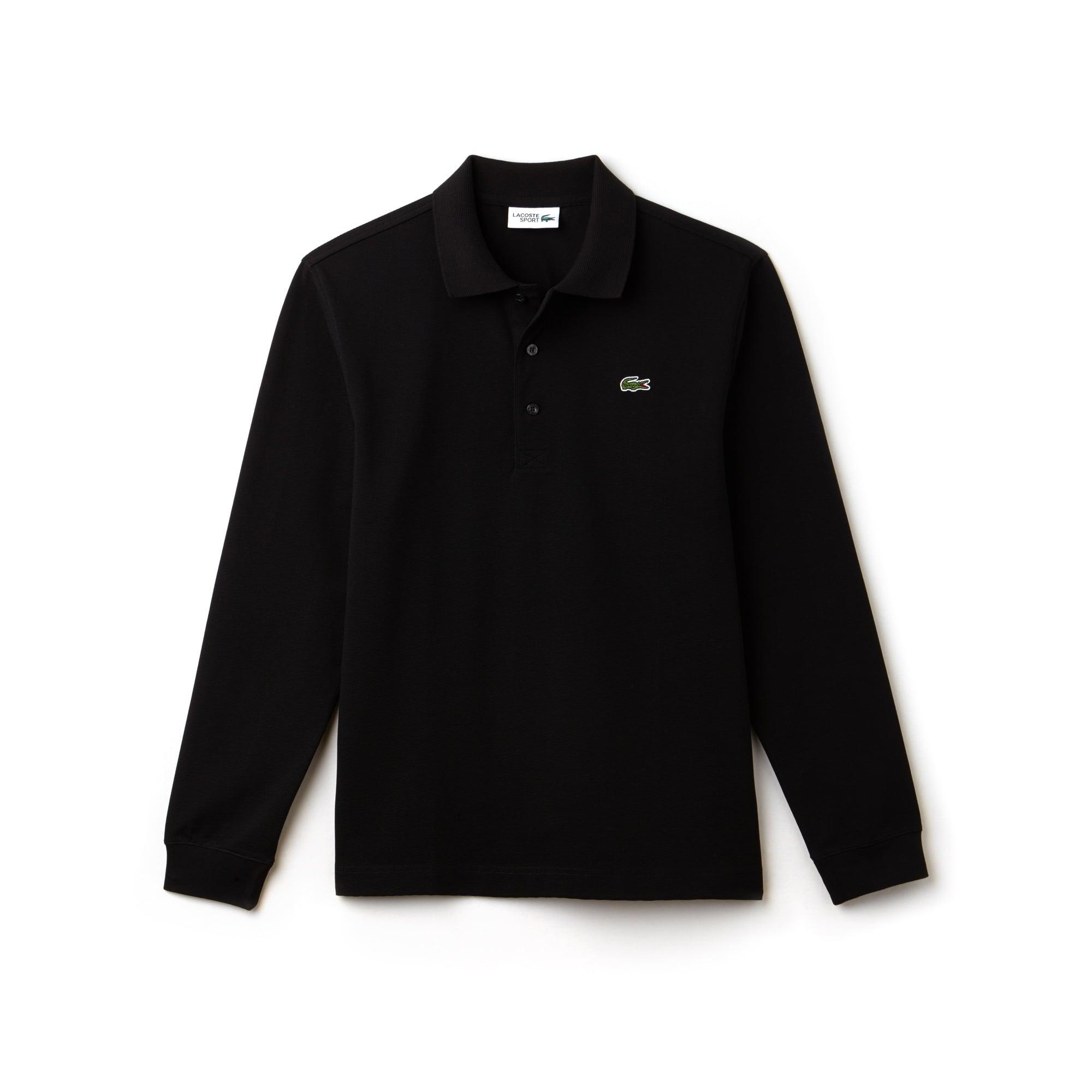 Polo à manches longues Tennis Lacoste SPORT en coton ultra léger