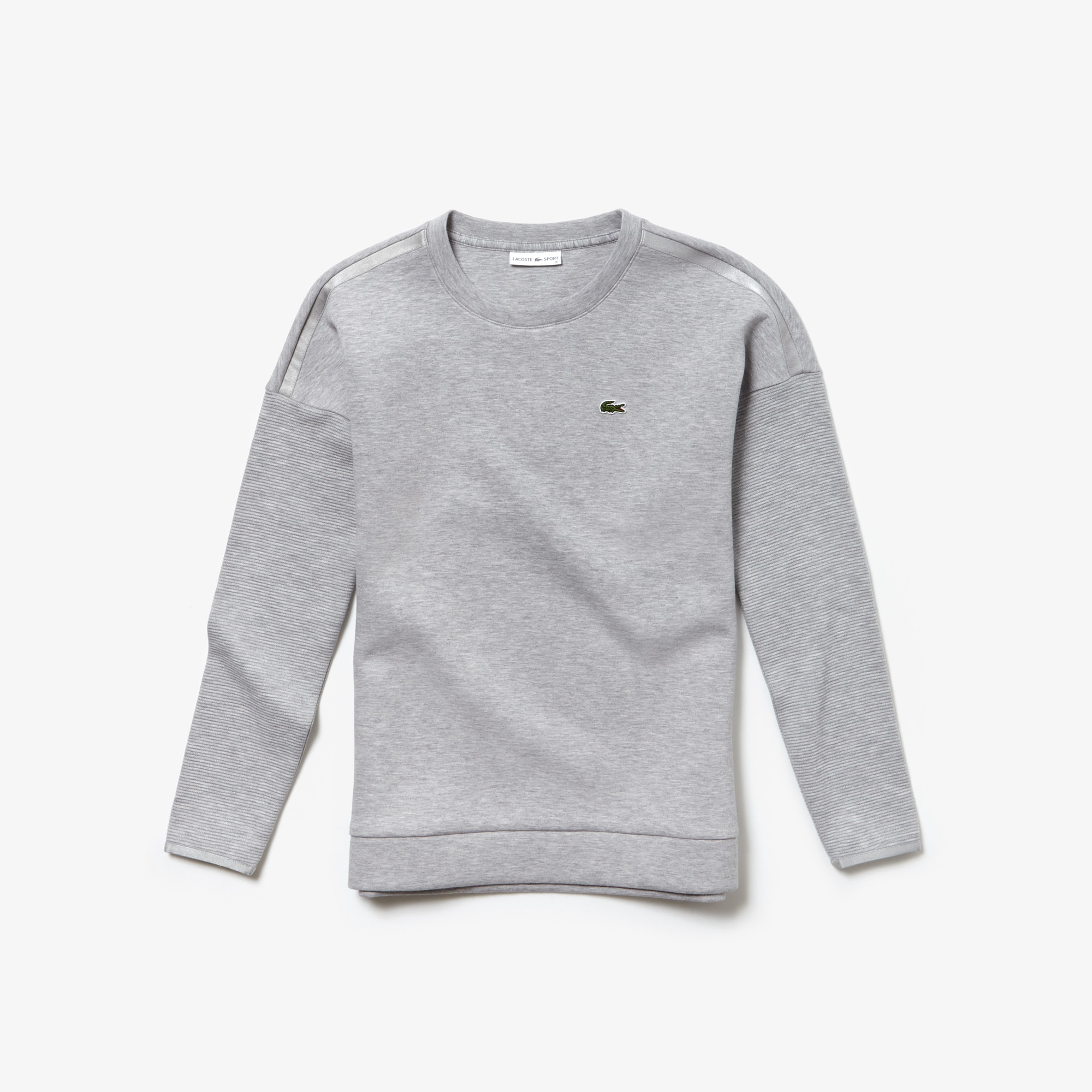 Sweatshirt à col rond Tennis Lacoste SPORT avec manches côtelées