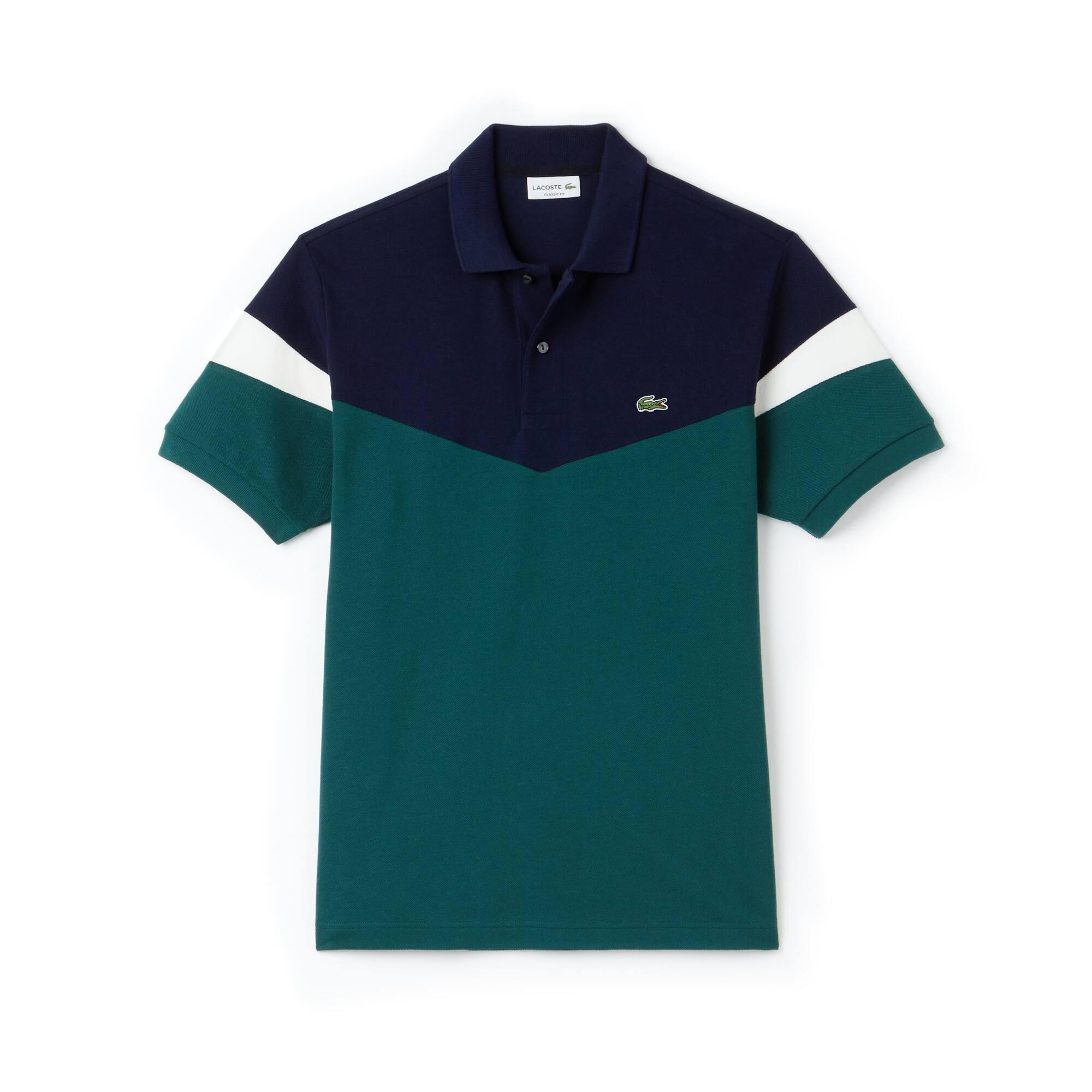 Lacoste - Polo classic fit Lacoste en petit piqué de coton color block - 3