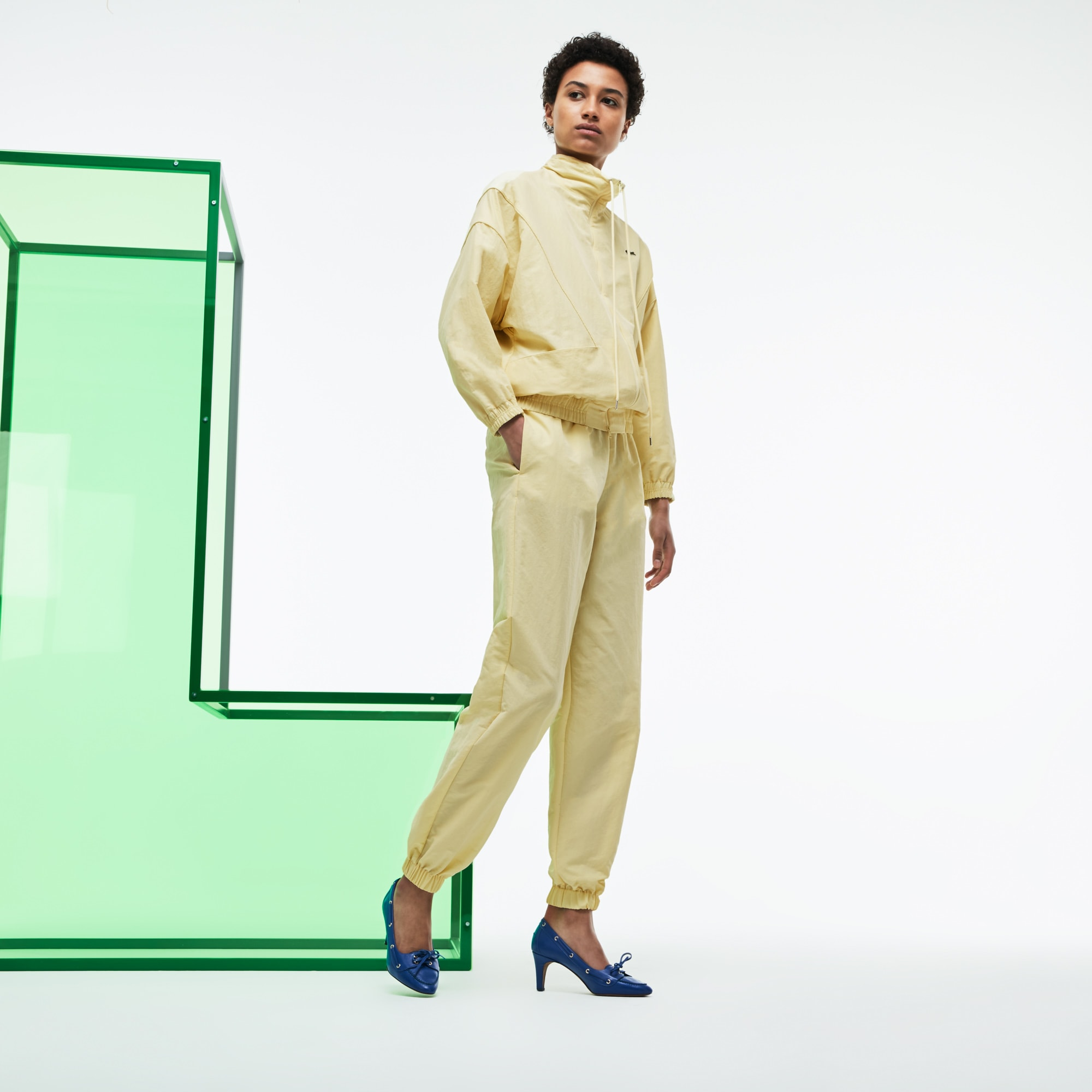 Pantalon de survêtement loose fit en canvas technique Édition Défilé