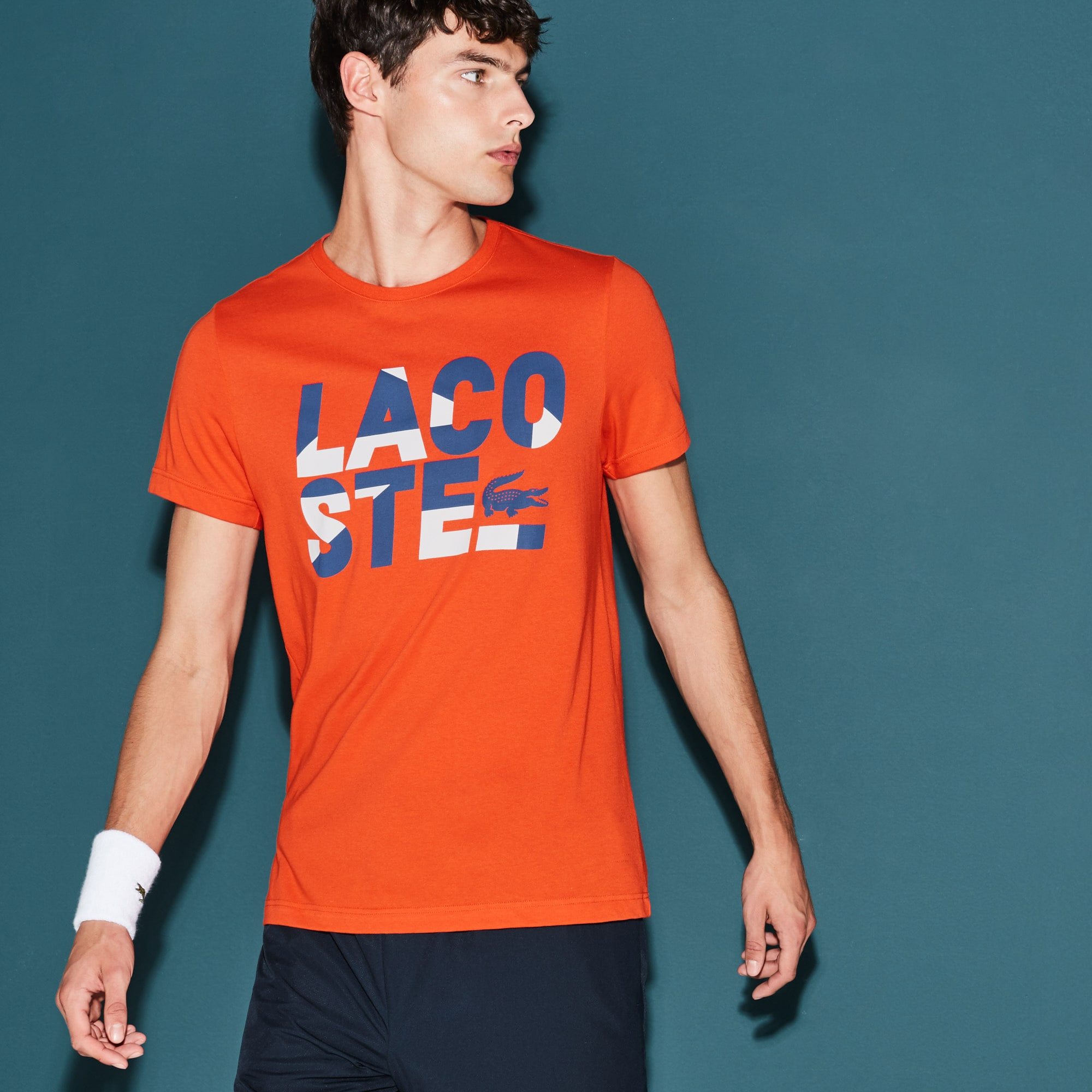 T-shirt Tennis Lacoste SPORT en jersey technique avec lettrage