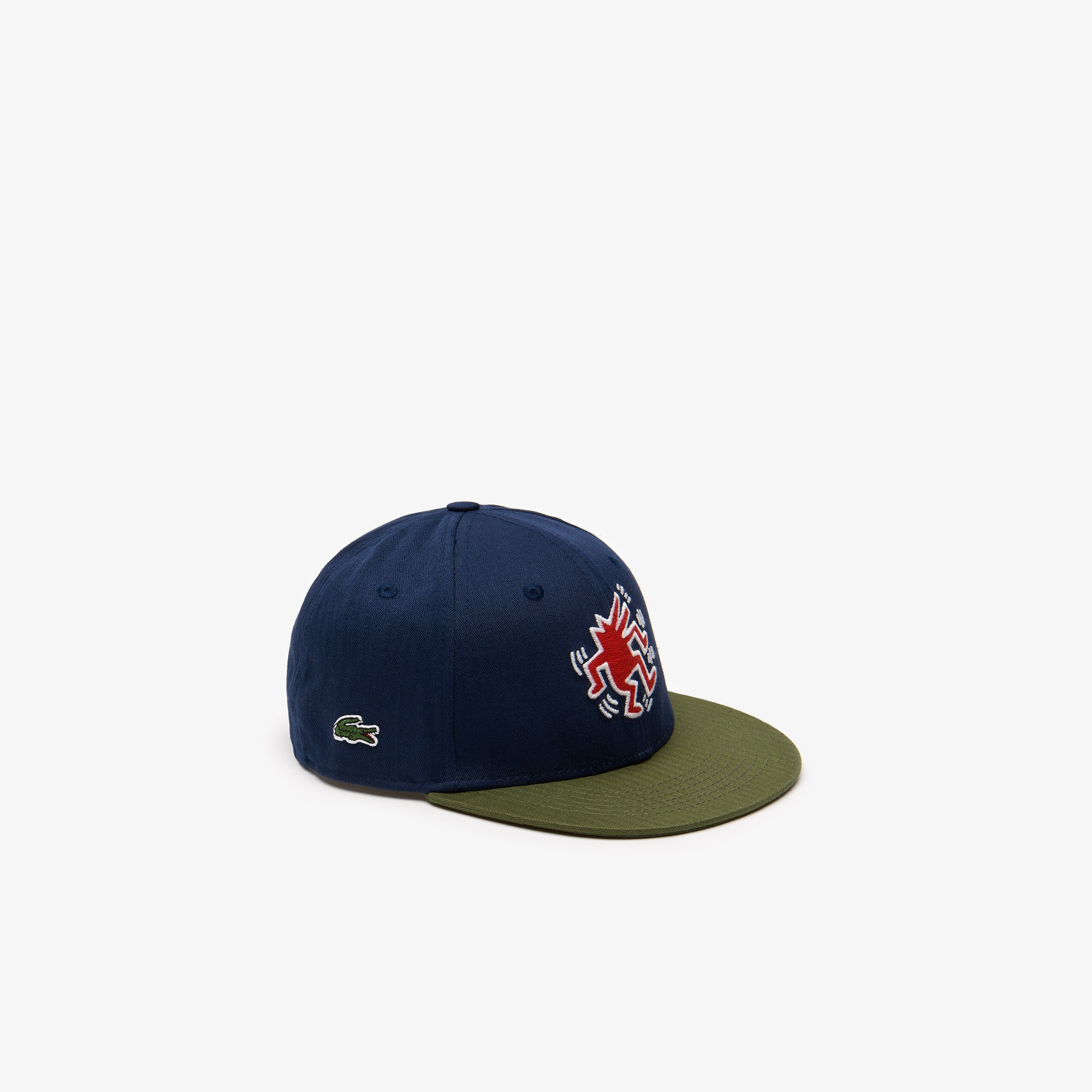 630301566d Casquette bicolore avec broderie Collab Keith Haring