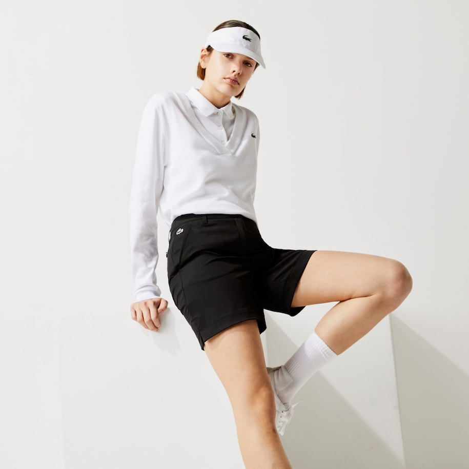 Short Golf Lacoste SPORT en gabardine technique unie