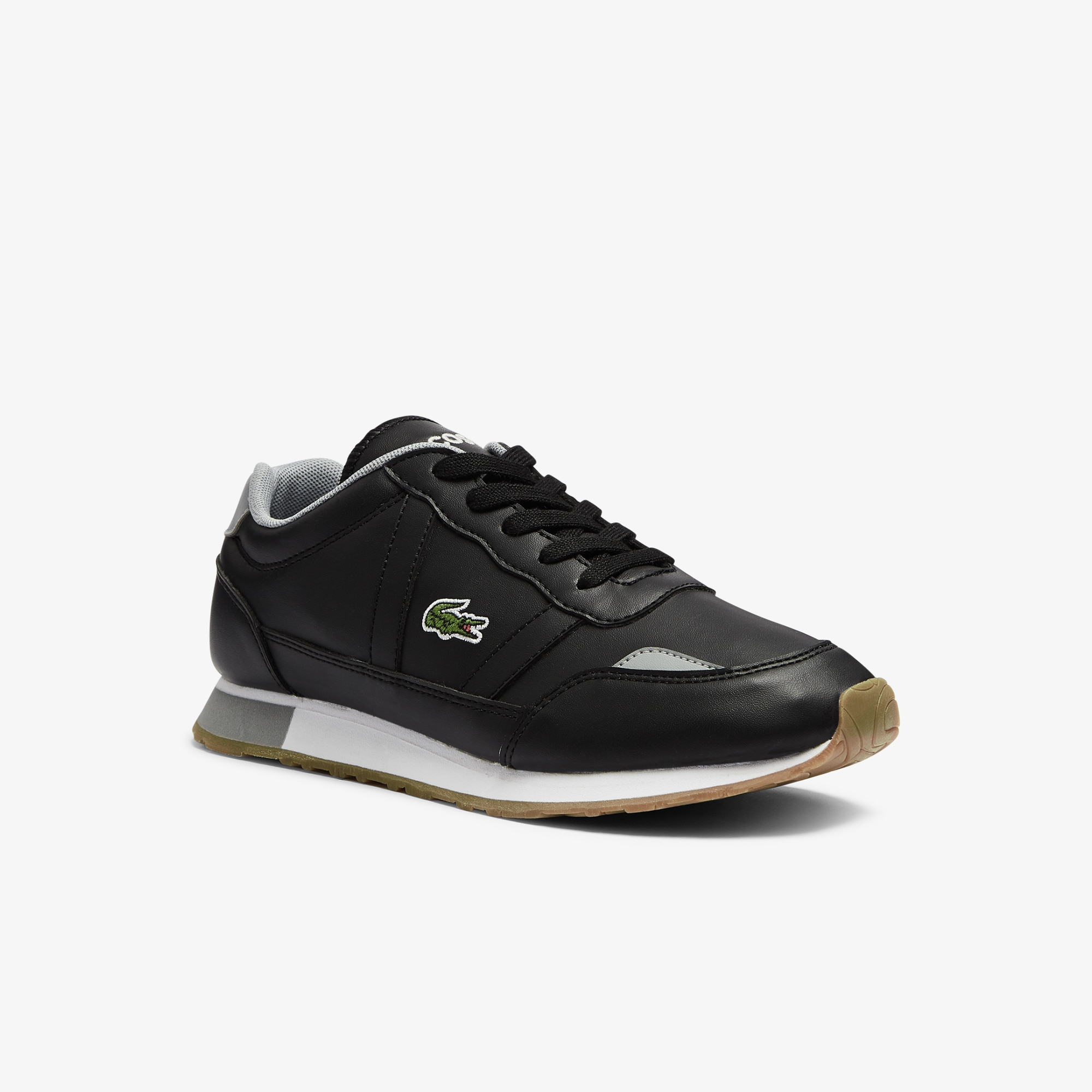 Lacoste Sneakers Partner ado en tissu Taille 39 Noir/gris