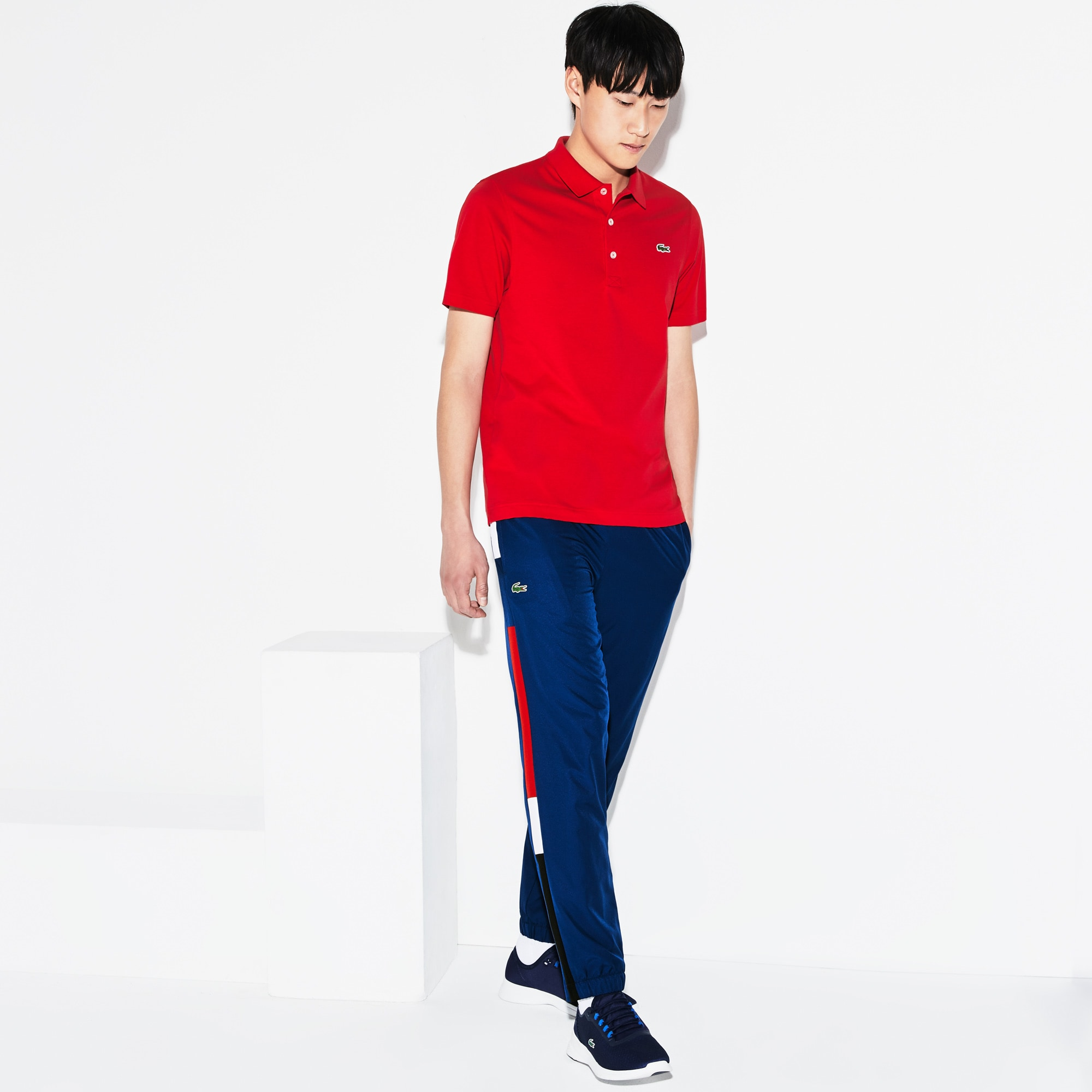 Pantalon de survêtement Tennis Lacoste SPORT avec bande color block