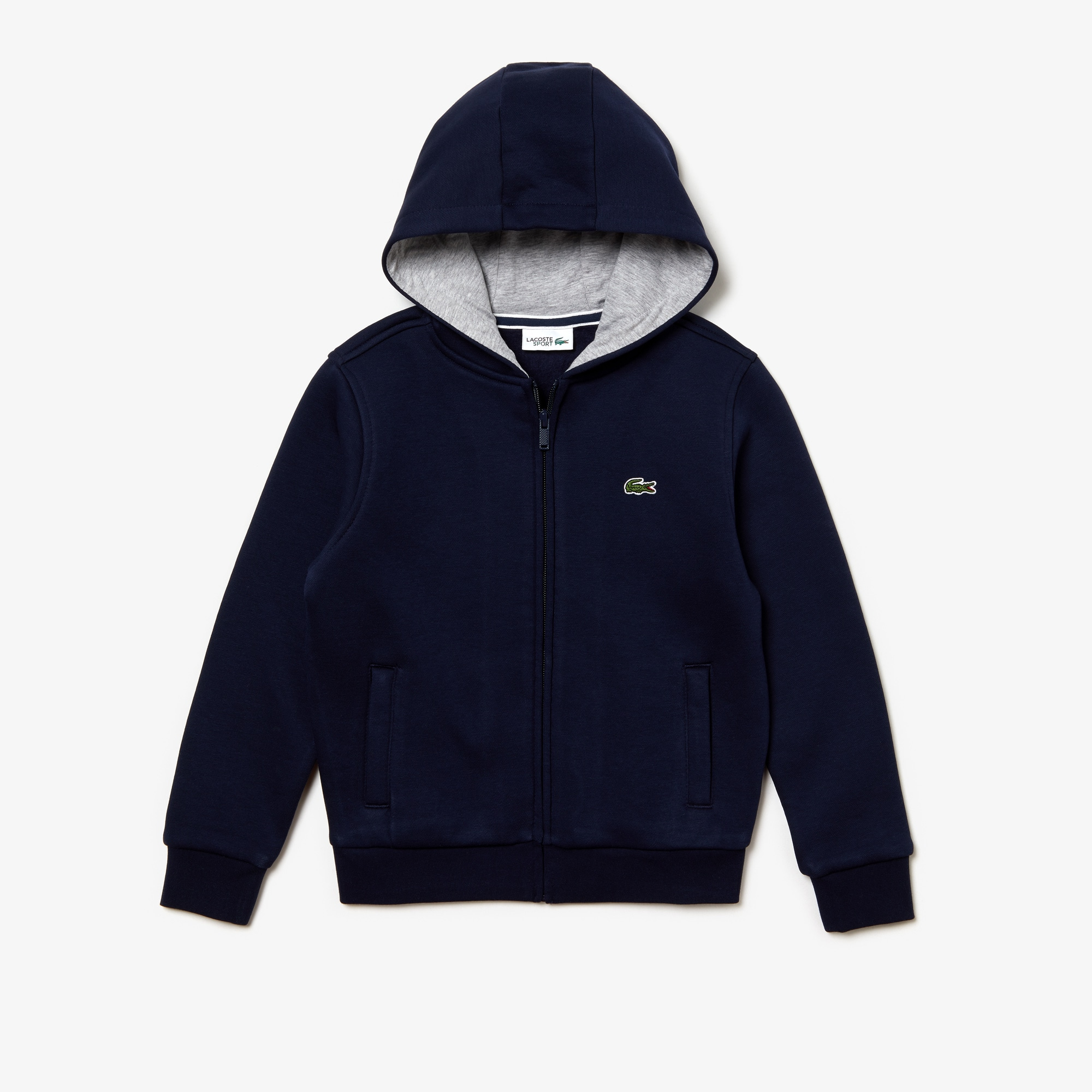 Sweatshirt zippé Enfant Tennis Lacoste SPORT en molleton uni