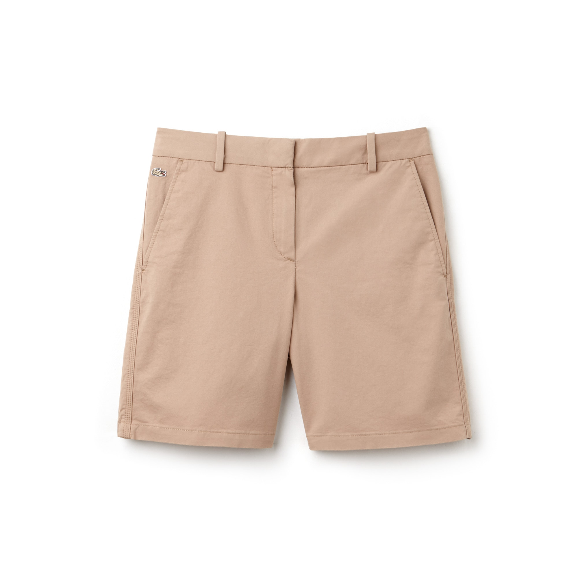Bermuda coupe chino en gabardine stretch unie