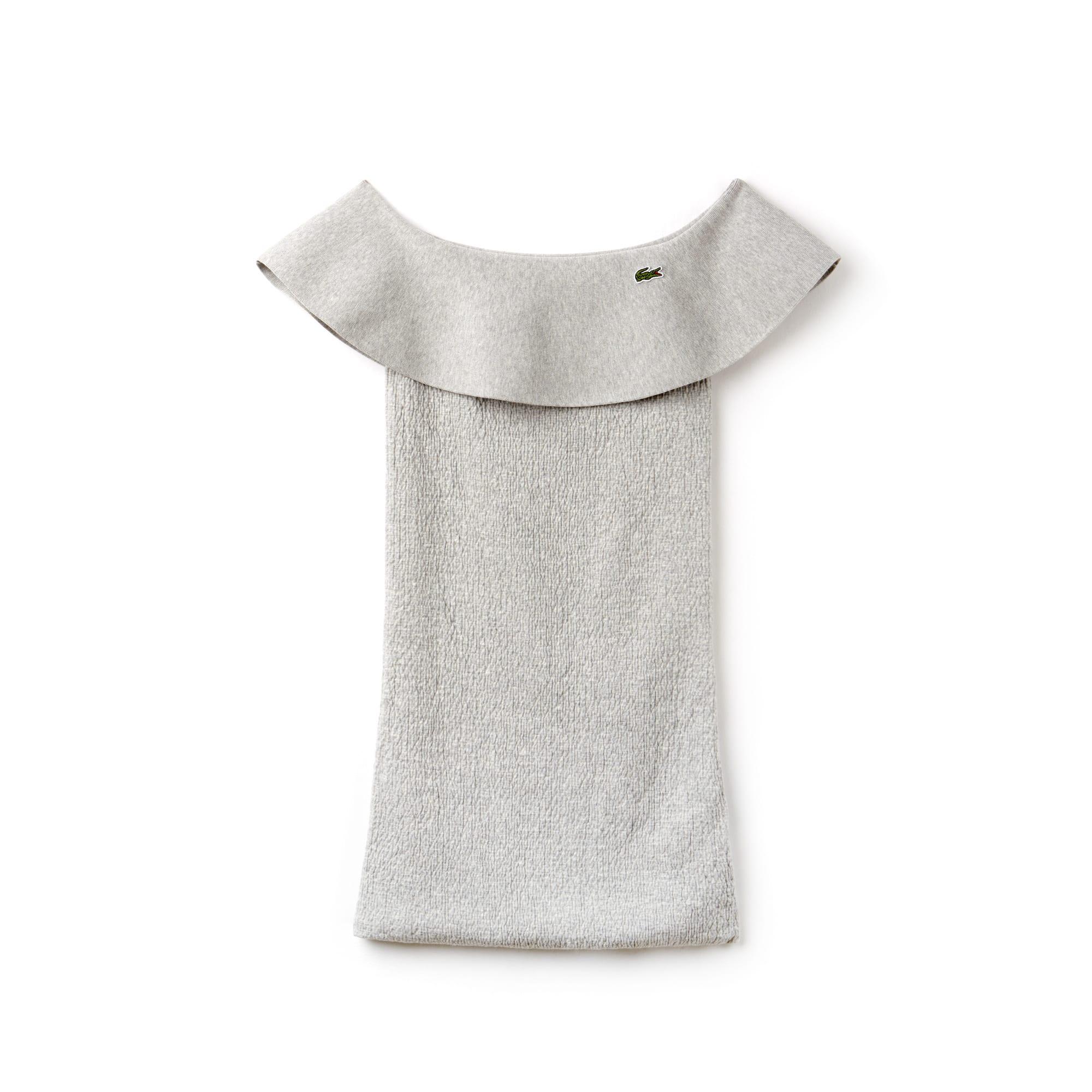 Robe bustier à volants en maille de coton Édition Défilé